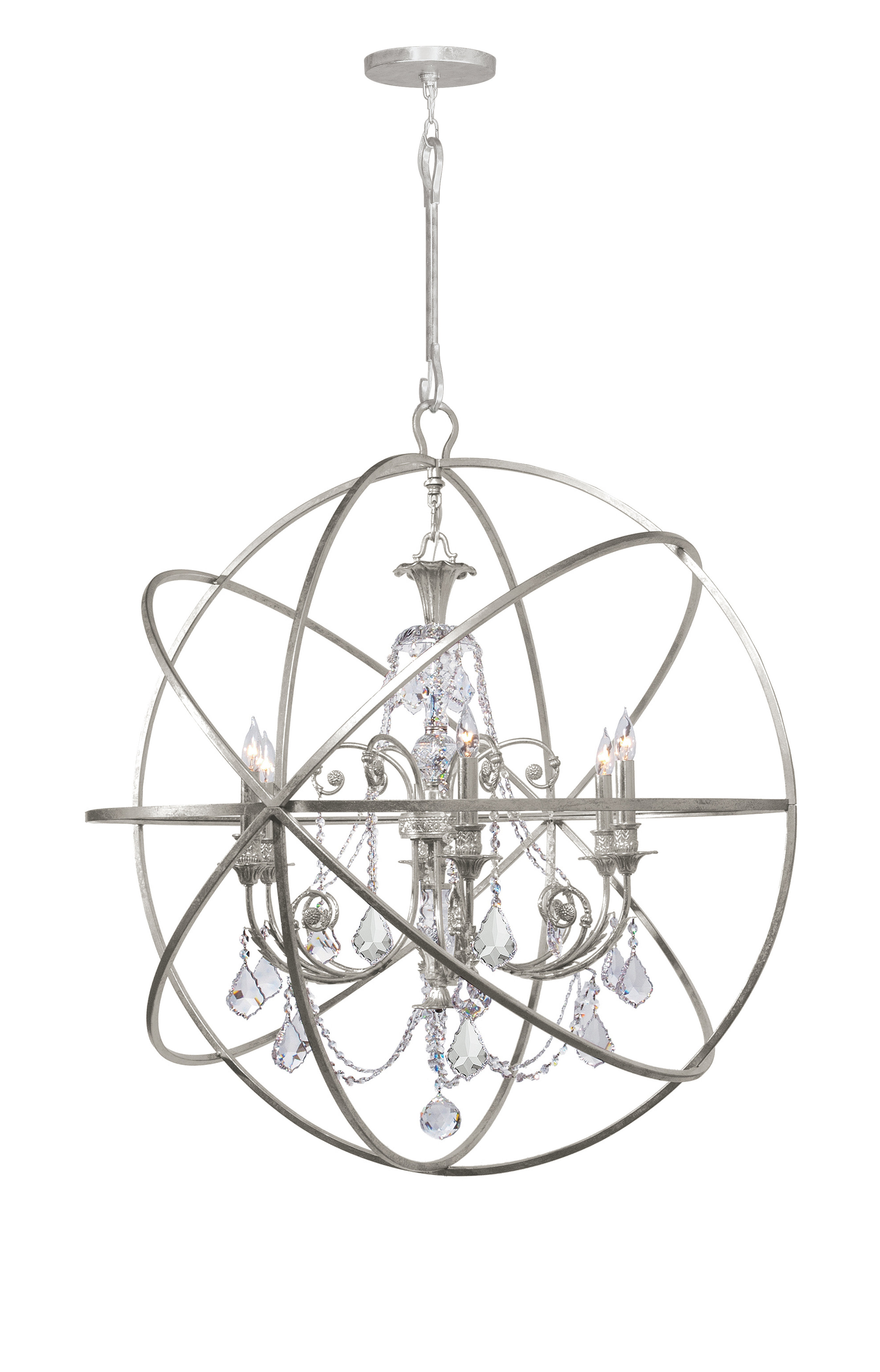 Gregoire 6 Light Globe Chandelier Intended For Gregoire 6 Light Globe Chandeliers (View 5 of 30)