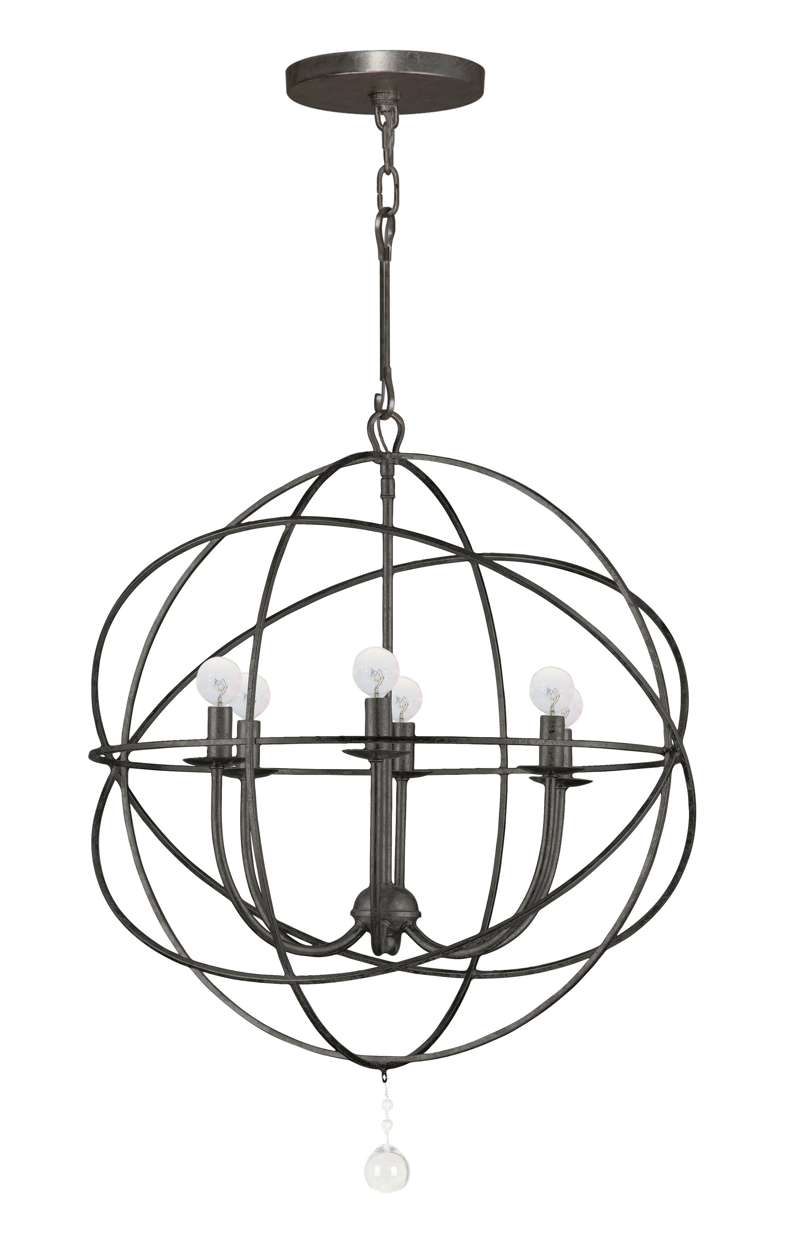 Gregoire 6 Light Globe Chandelier Regarding Gregoire 6 Light Globe Chandeliers (View 4 of 30)