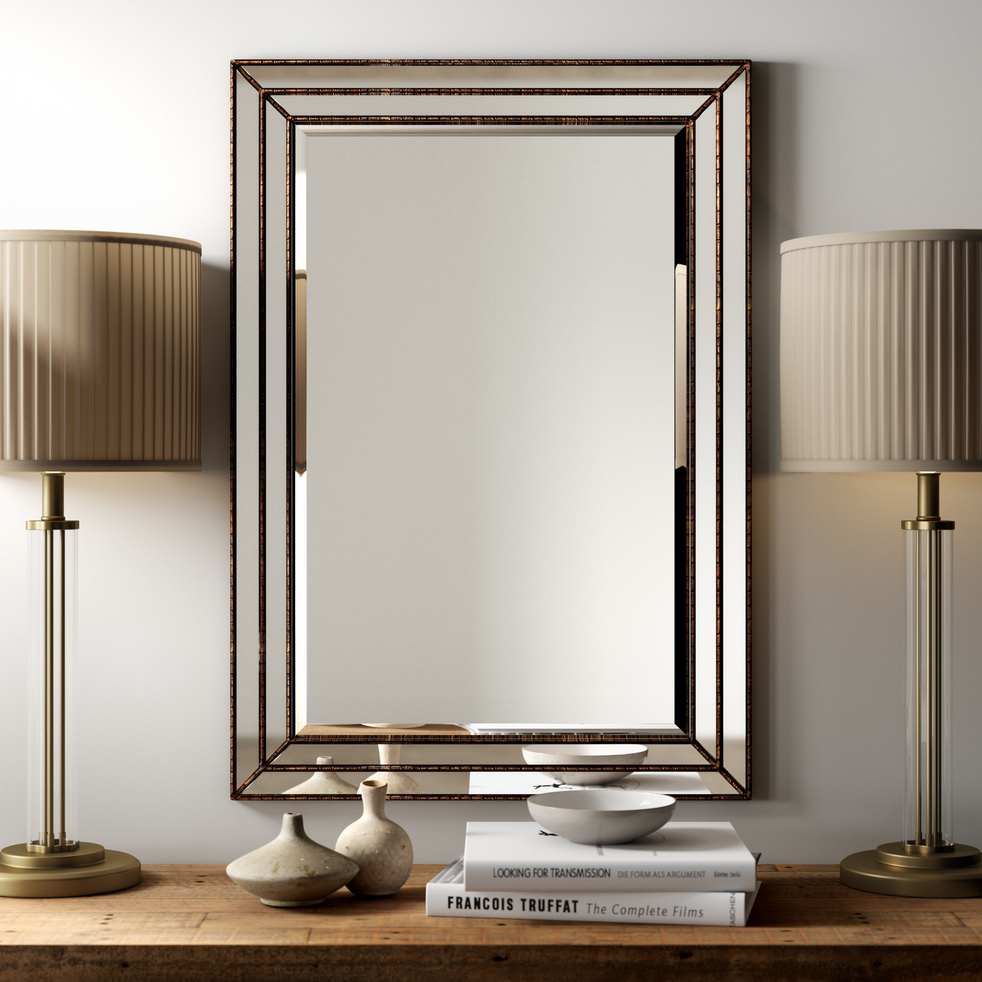Greyleigh Willacoochee Traditional Beveled Accent Mirror Pertaining To Maude Accent Mirrors (View 13 of 30)