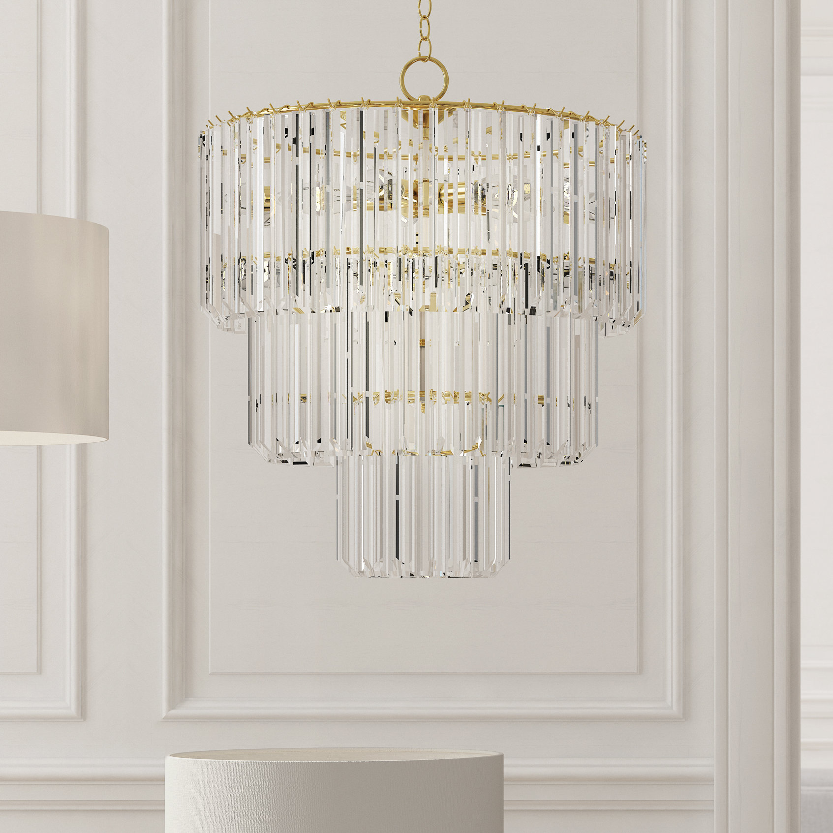 Grisella 9 Light Crystal Chandelier With Benedetto 5 Light Crystal Chandeliers (View 10 of 30)