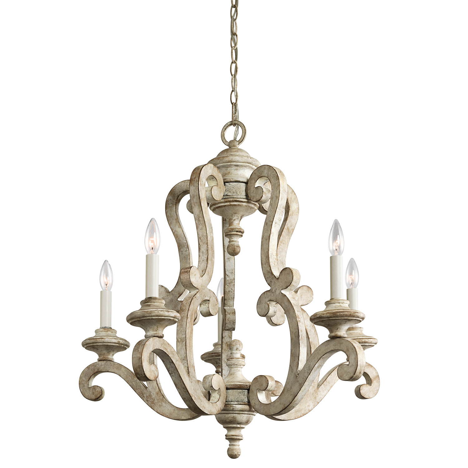 Guglielmo 5-Light Candle Style Chandelier regarding Shaylee 5-Light Candle Style Chandeliers (Image 8 of 30)