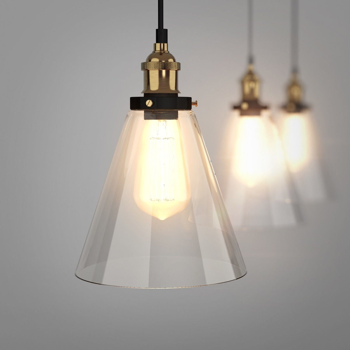 Gymax Vintage Style Industrial Edison Ceiling Pendant Glass Hanging Light 1 Light Bulb – As Pic Inside Vintage Edison 1 Light Bowl Pendants (View 4 of 30)