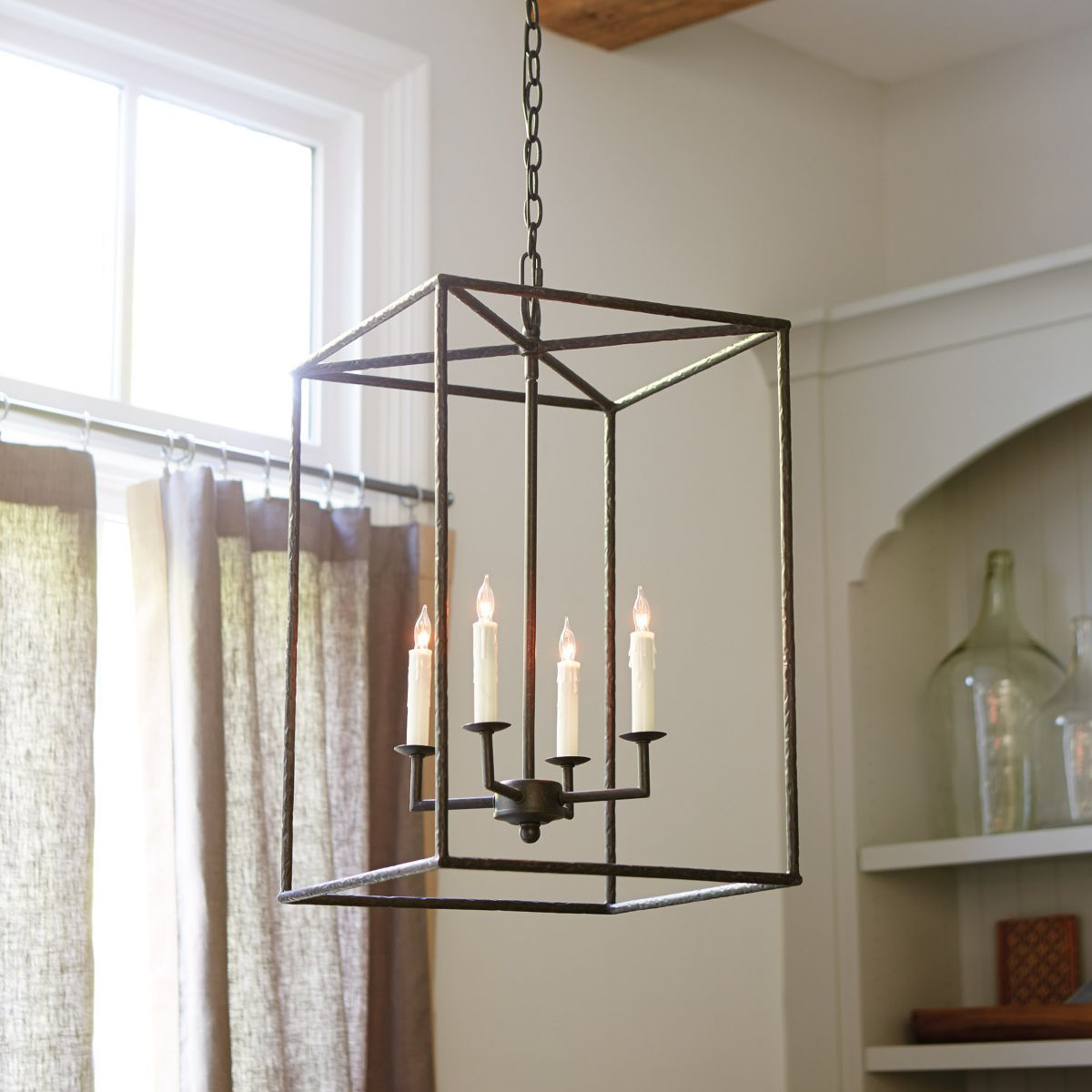 Hadley 4-Light Pendant Chandelier | Home In 2019 | Pendant with regard to Odie 8-Light Lantern Square / Rectangle Pendants (Image 12 of 30)