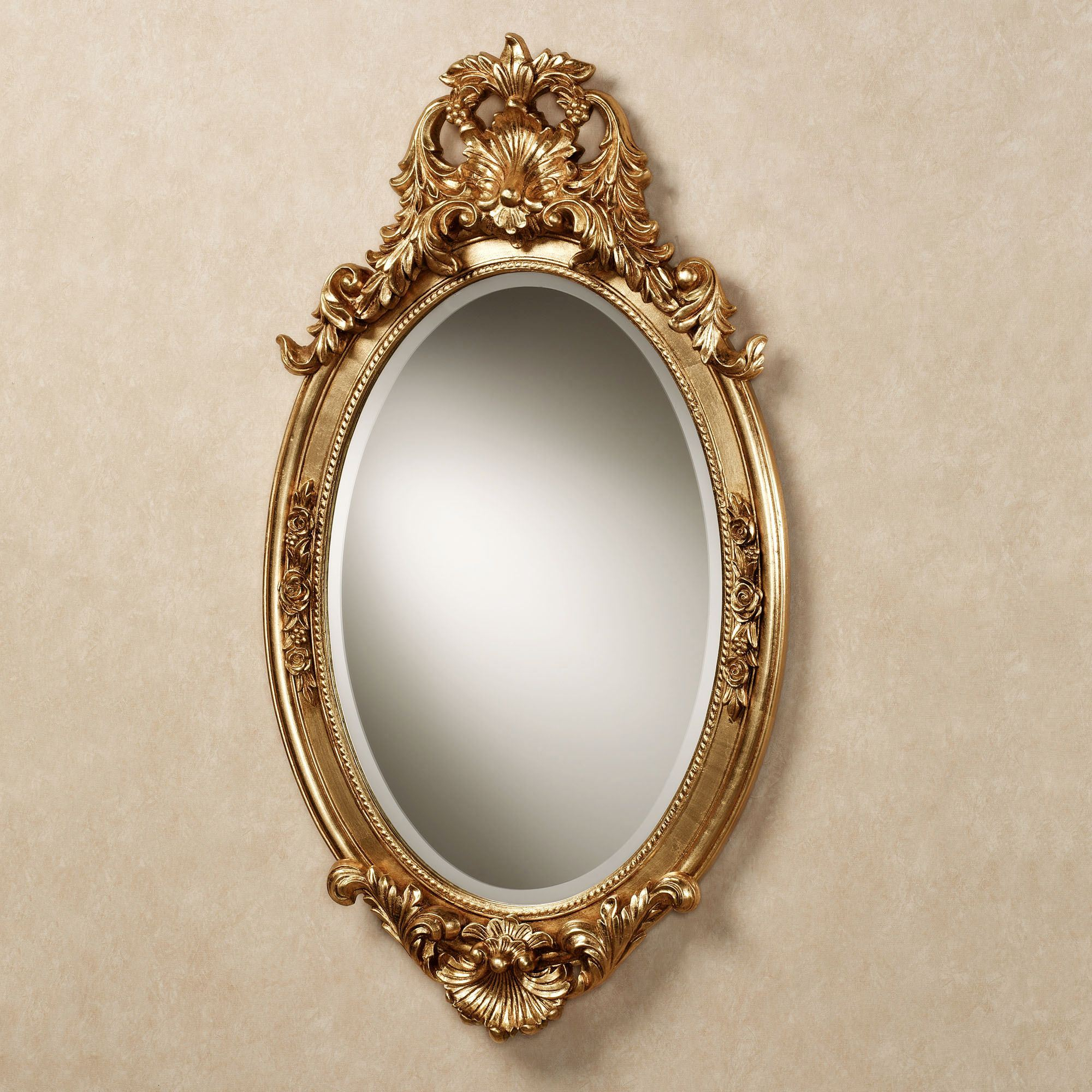 Hallandale Acanthus Leaf Oval Wall Mirror Throughout Traditional Accent Mirrors (View 15 of 30)