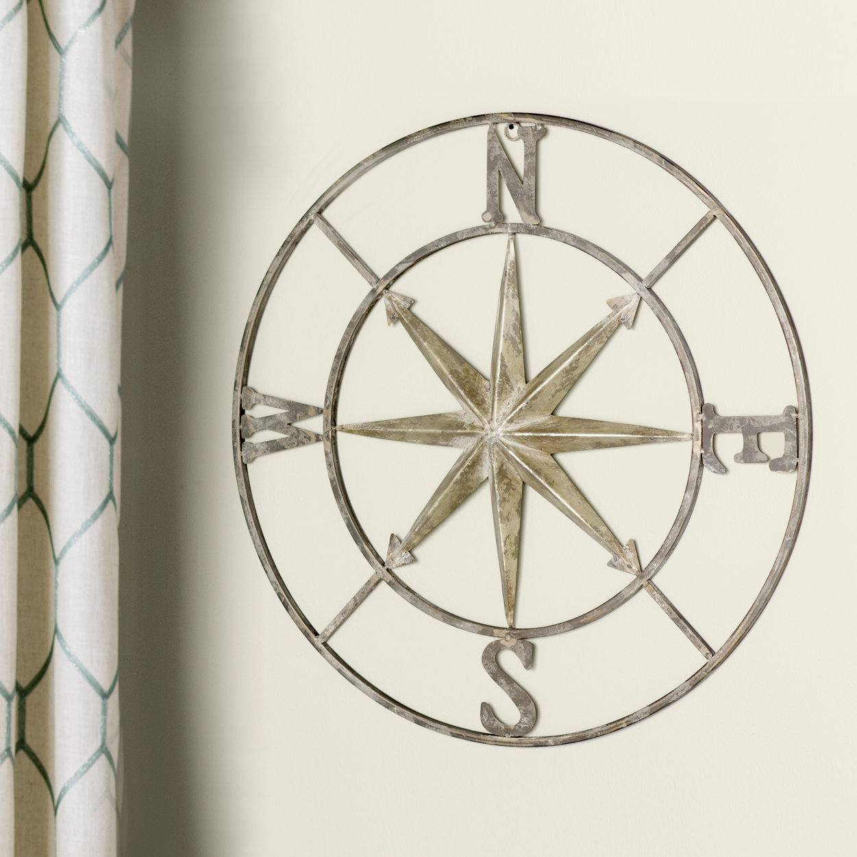 Hallway Wall Decor | Wayfair.ca within Round Compass Wall Decor (Image 13 of 30)