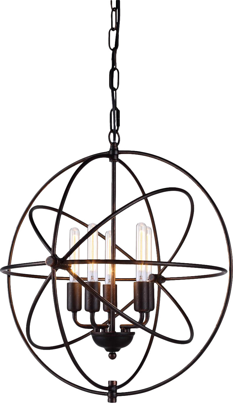 Hamby 5 Light Globe Chandelier Intended For Verlene Foyer 5 Light Globe Chandeliers (View 14 of 30)