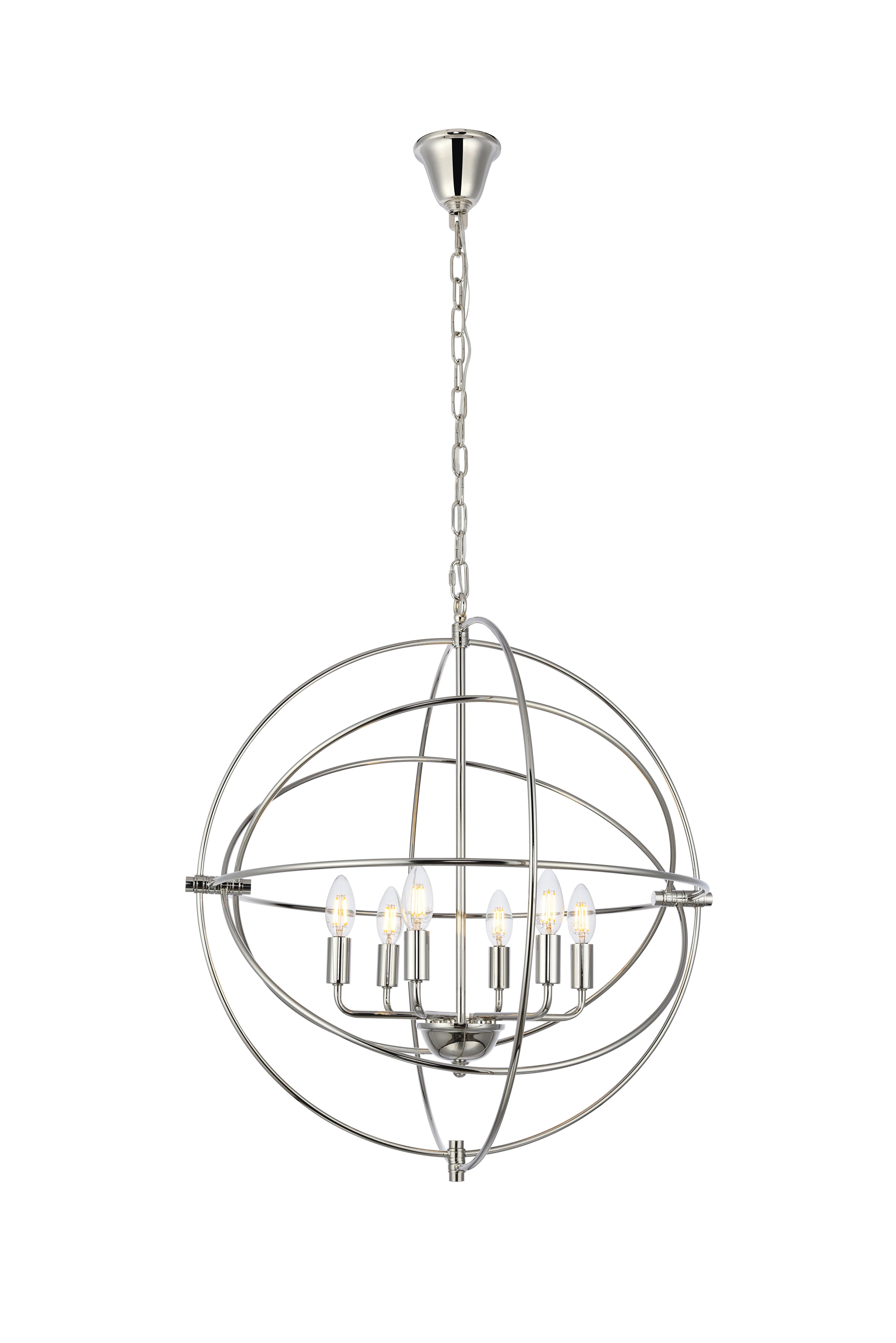 Hamby 6-Light Globe Chandelier inside Donna 6-Light Globe Chandeliers (Image 18 of 30)