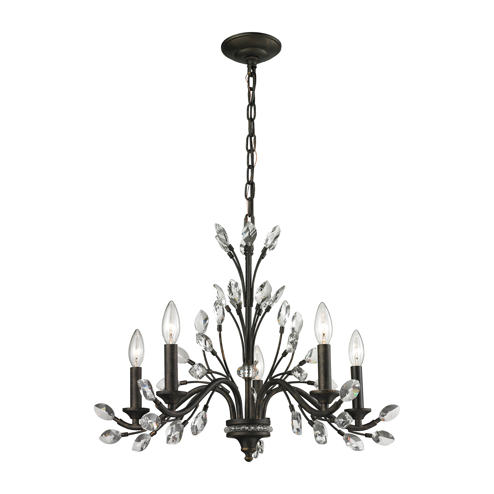 Hammel 5 Light Candle Style Chandelier With Berger 5 Light Candle Style Chandeliers (View 21 of 30)