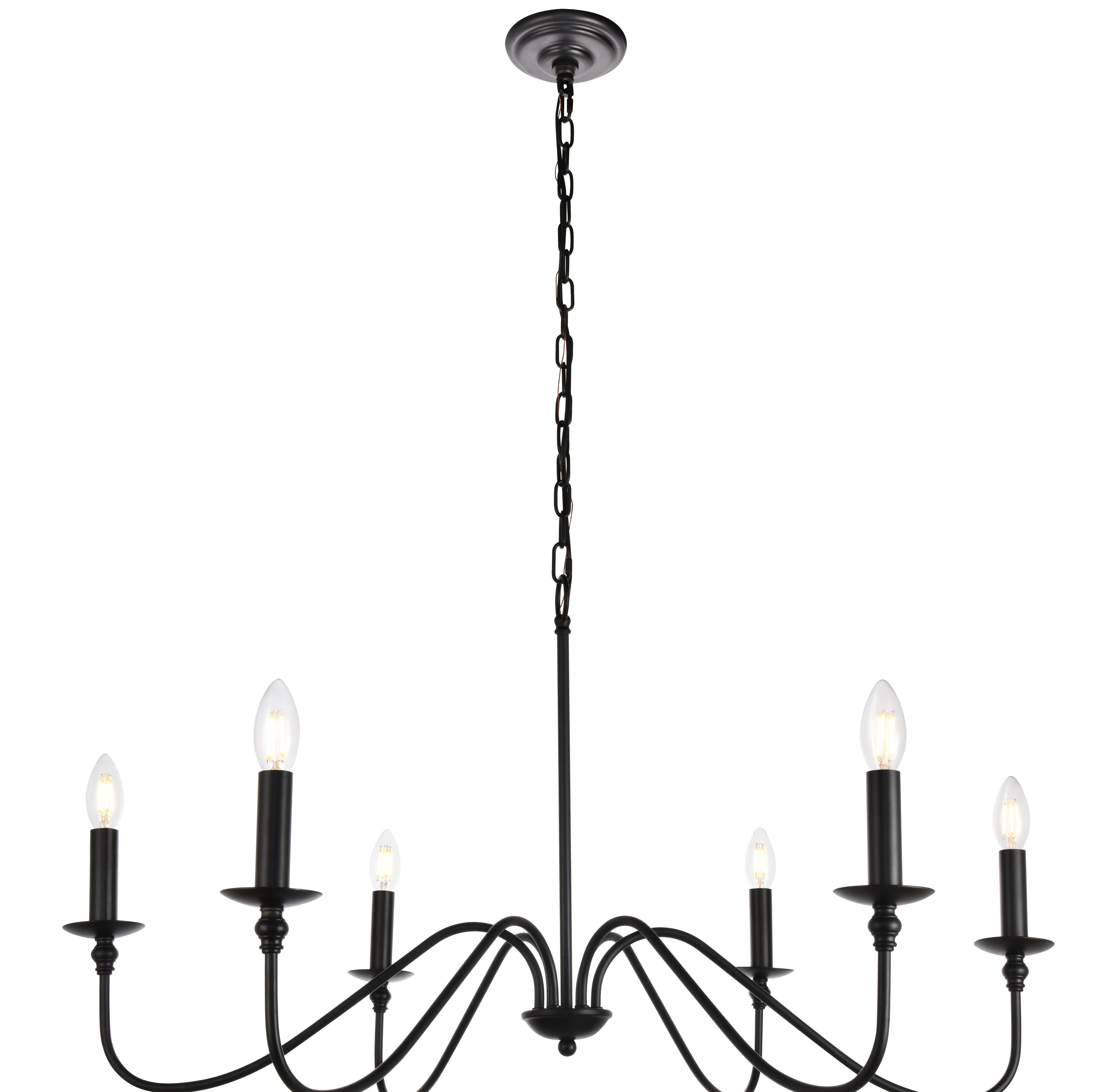 Hamza 6-Light Candle Style Chandelier in Shaylee 5-Light Candle Style Chandeliers (Image 9 of 30)