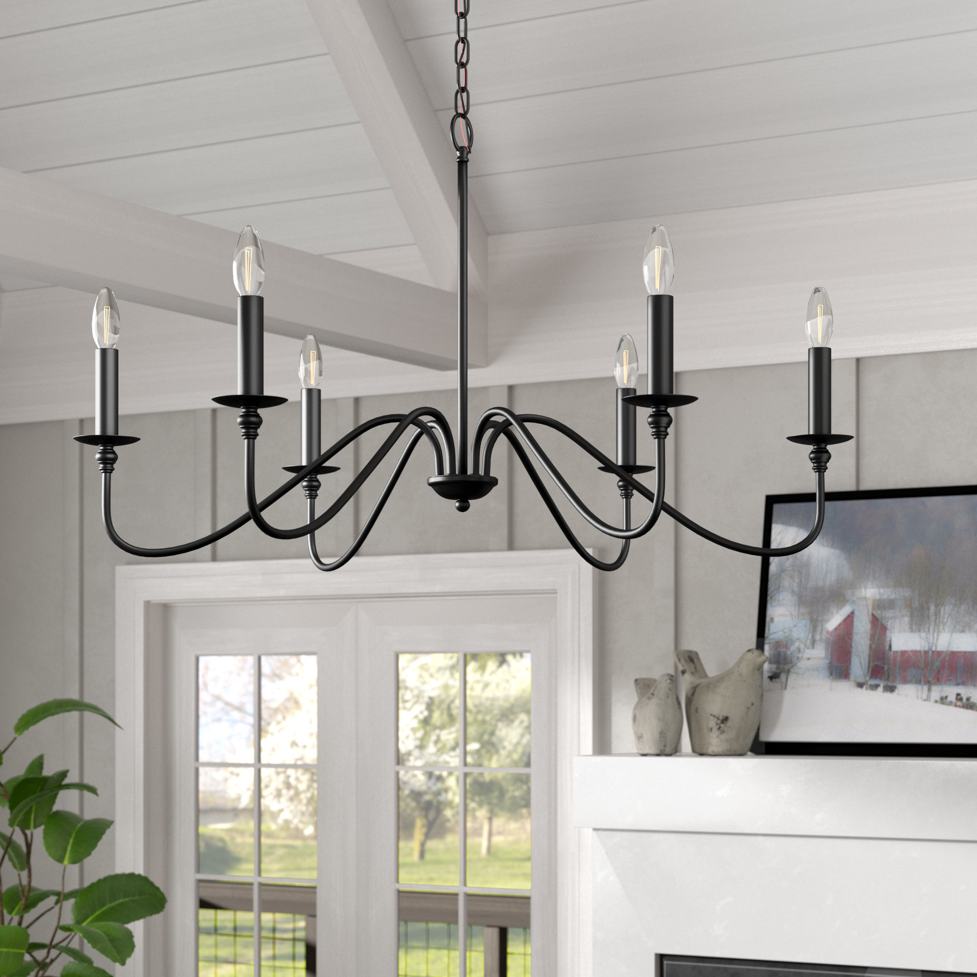 Hamza 6-Light Candle Style Chandelier with regard to Shaylee 5-Light Candle Style Chandeliers (Image 10 of 30)