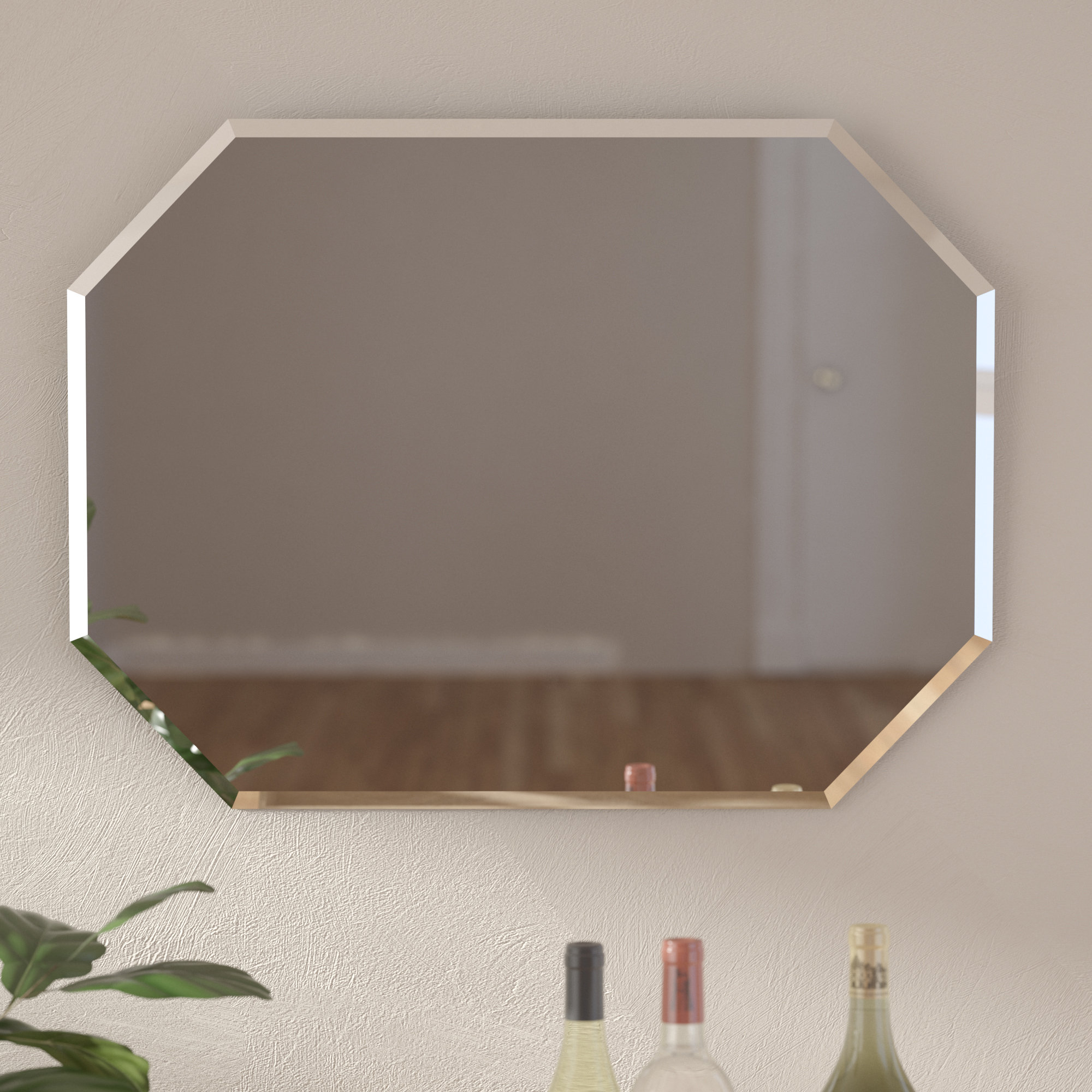 Hand Forged Beveled Mirror | Wayfair Pertaining To Lidya Frameless Beveled Wall Mirrors (View 15 of 30)
