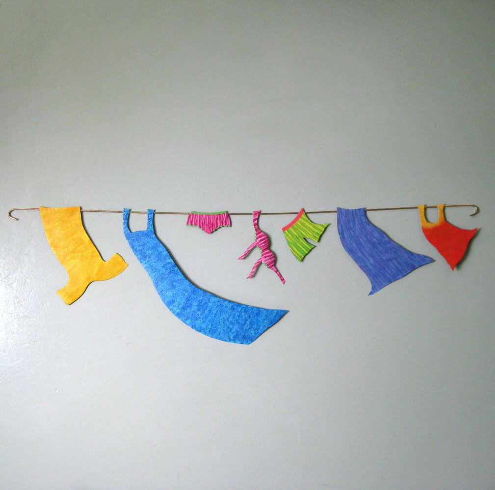 Hand Made Handmade Upcycled Metal Clothesline Wall Decor For Metal Laundry Room Wall Decor (View 24 of 30)