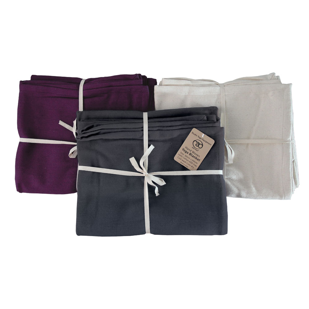 Hand Woven Cotton Yoga Blanket| Mad-Hq within 4 Piece Handwoven Wheel Wall Decor Sets (Image 19 of 30)