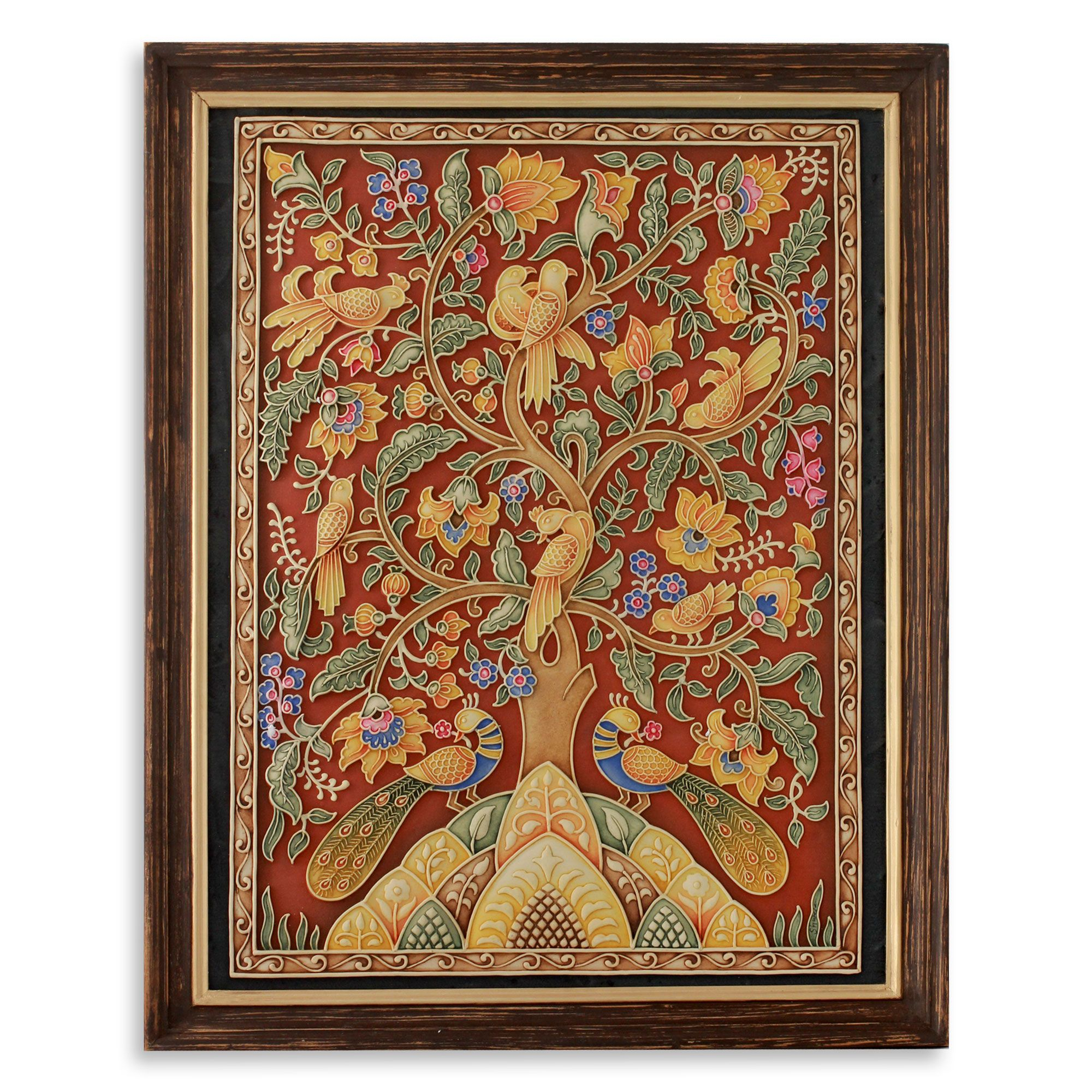 Handcrafted Framed Marble Dust Tree Of Life Relief Panel With Tree Of Life Wall Decor By Red Barrel Studio (View 20 of 30)