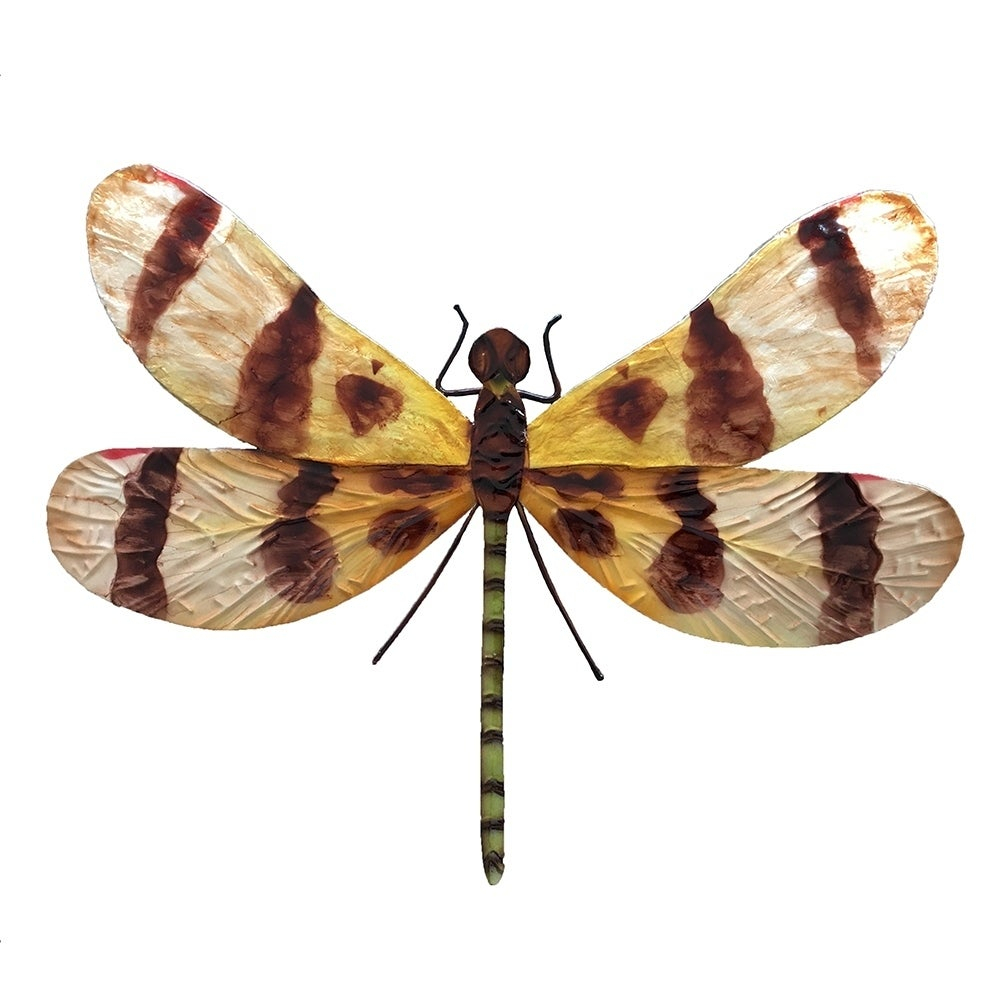 Handmade Brown And Yellow Dragonfly Wall Decor For Dragonfly Wall Decor (View 16 of 30)