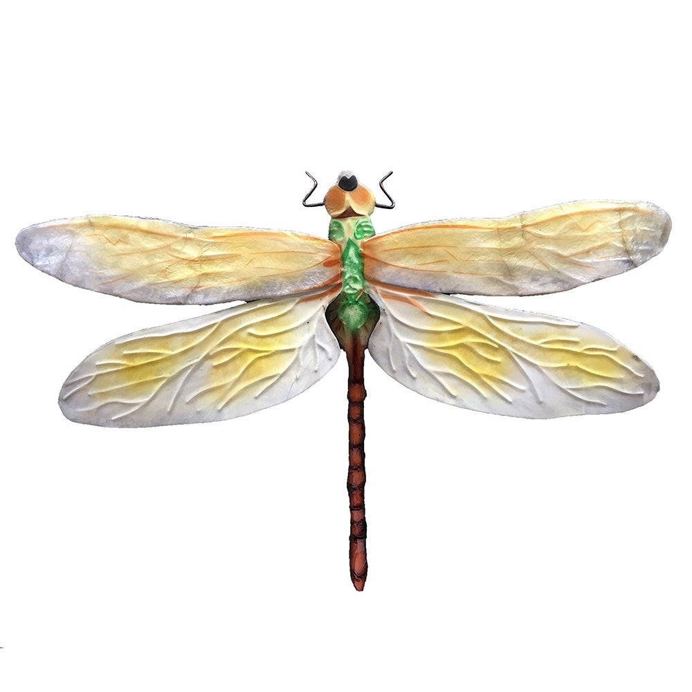Handmade White And Green Dragonfly Wall Decor For Dragonfly Wall Decor (View 19 of 30)