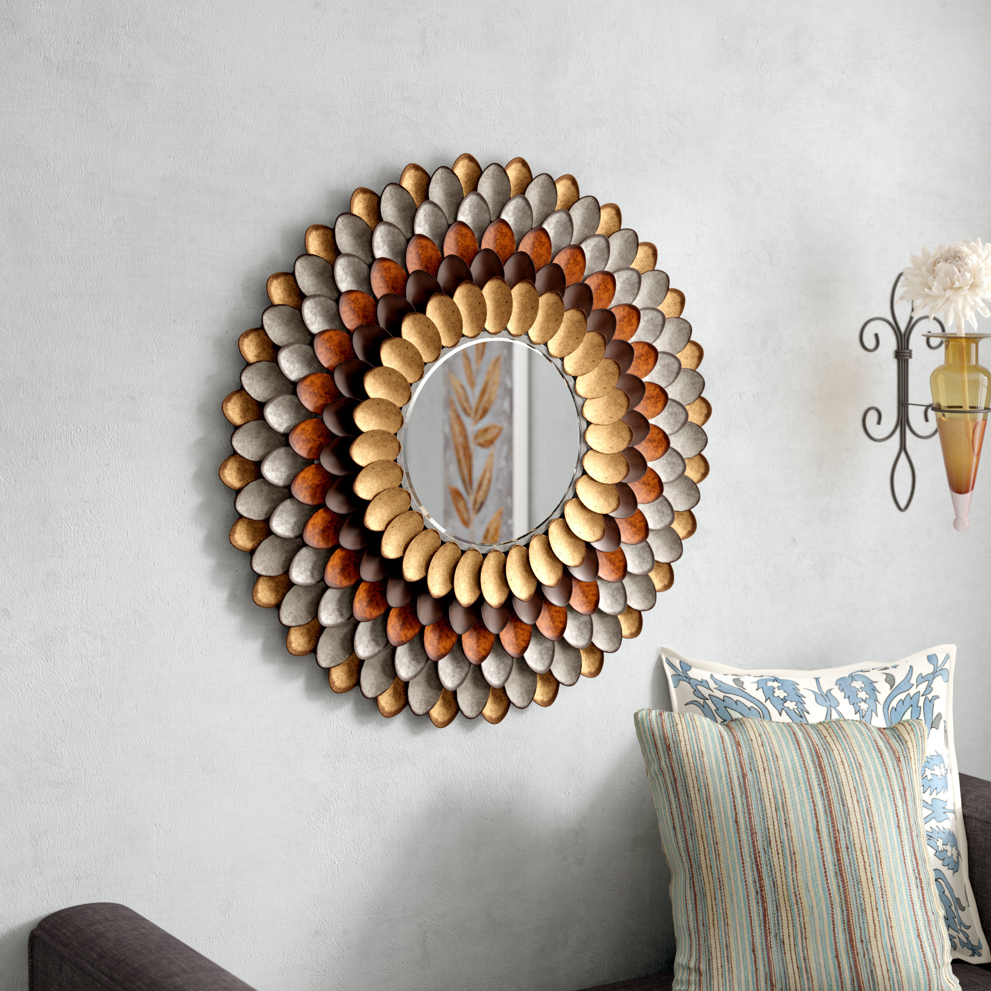 Hanging Wall Mirror | Wayfair With Regard To Bem Decorative Wall Mirrors (View 11 of 30)