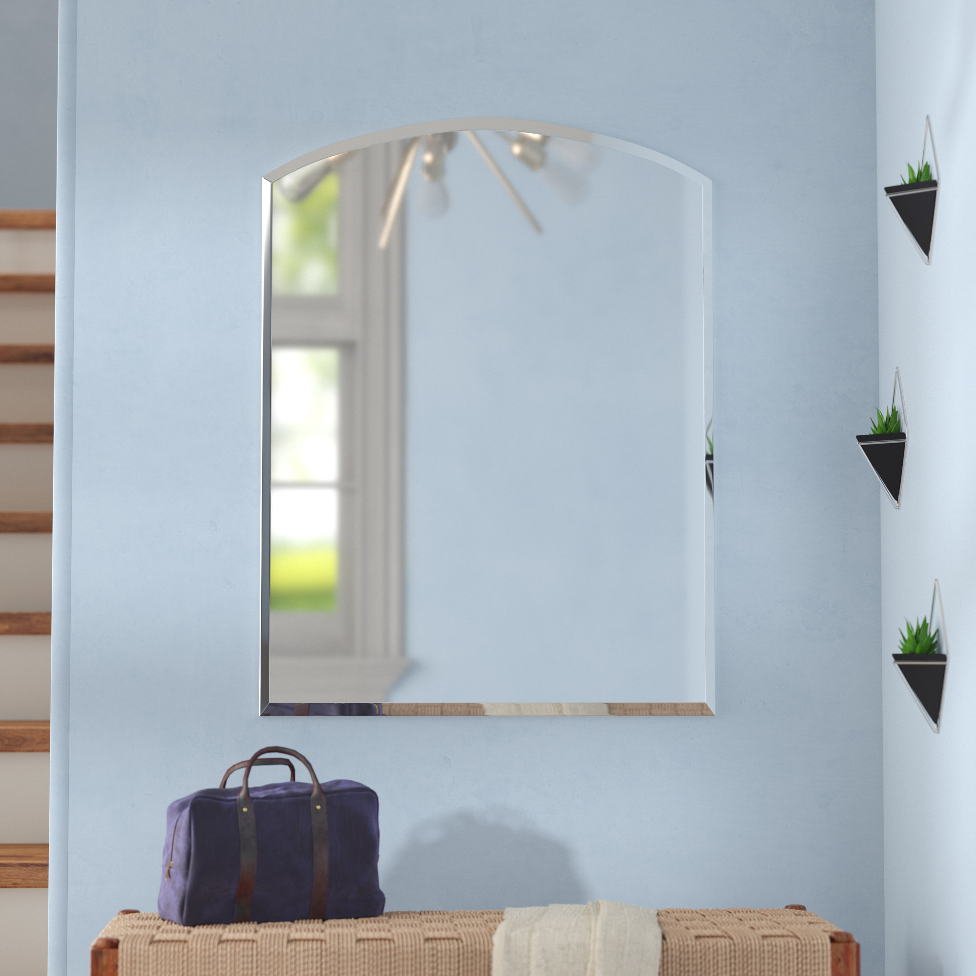 Hanham Modern Wall Mirror For Wallingford Large Frameless Wall Mirrors (View 22 of 30)