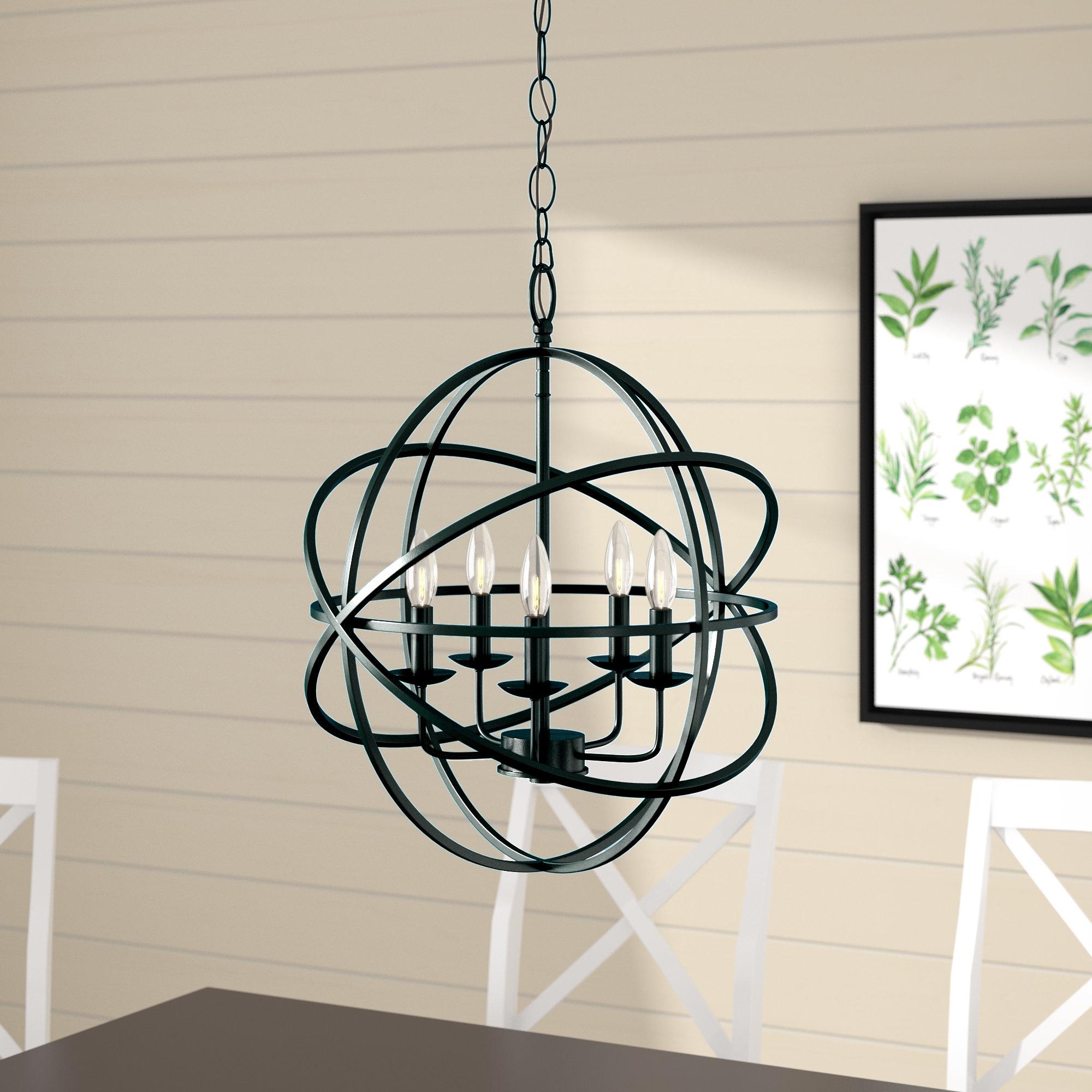 Hankinson 5-Light Globe Chandelier for Waldron 5-Light Globe Chandeliers (Image 13 of 30)
