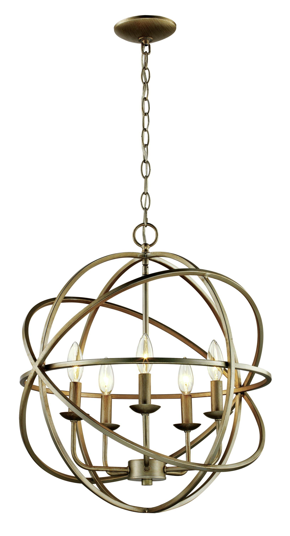 Hankinson 5-Light Globe Chandelier intended for Waldron 5-Light Globe Chandeliers (Image 14 of 30)