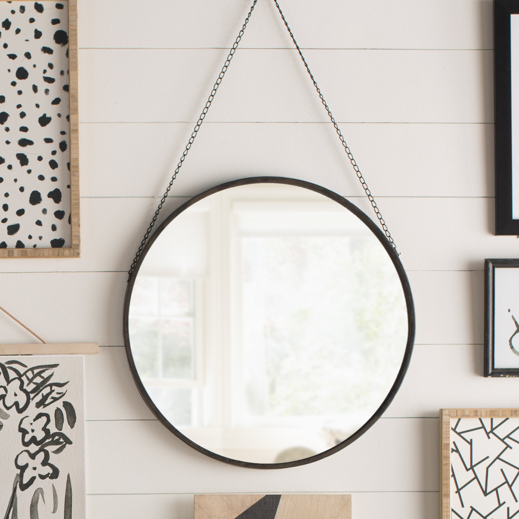 Hardison With Chain Hanger Accent Mirror with regard to Swagger Accent Wall Mirrors (Image 8 of 30)