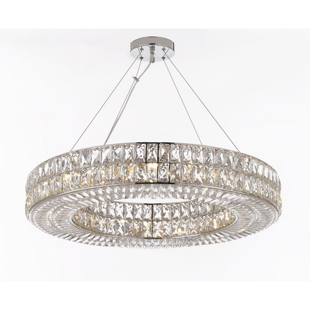 Harrison Lane Modern Nimbus 12 Light Crystal Chrome With Regard To Aldgate 4 Light Crystal Chandeliers (View 22 of 30)