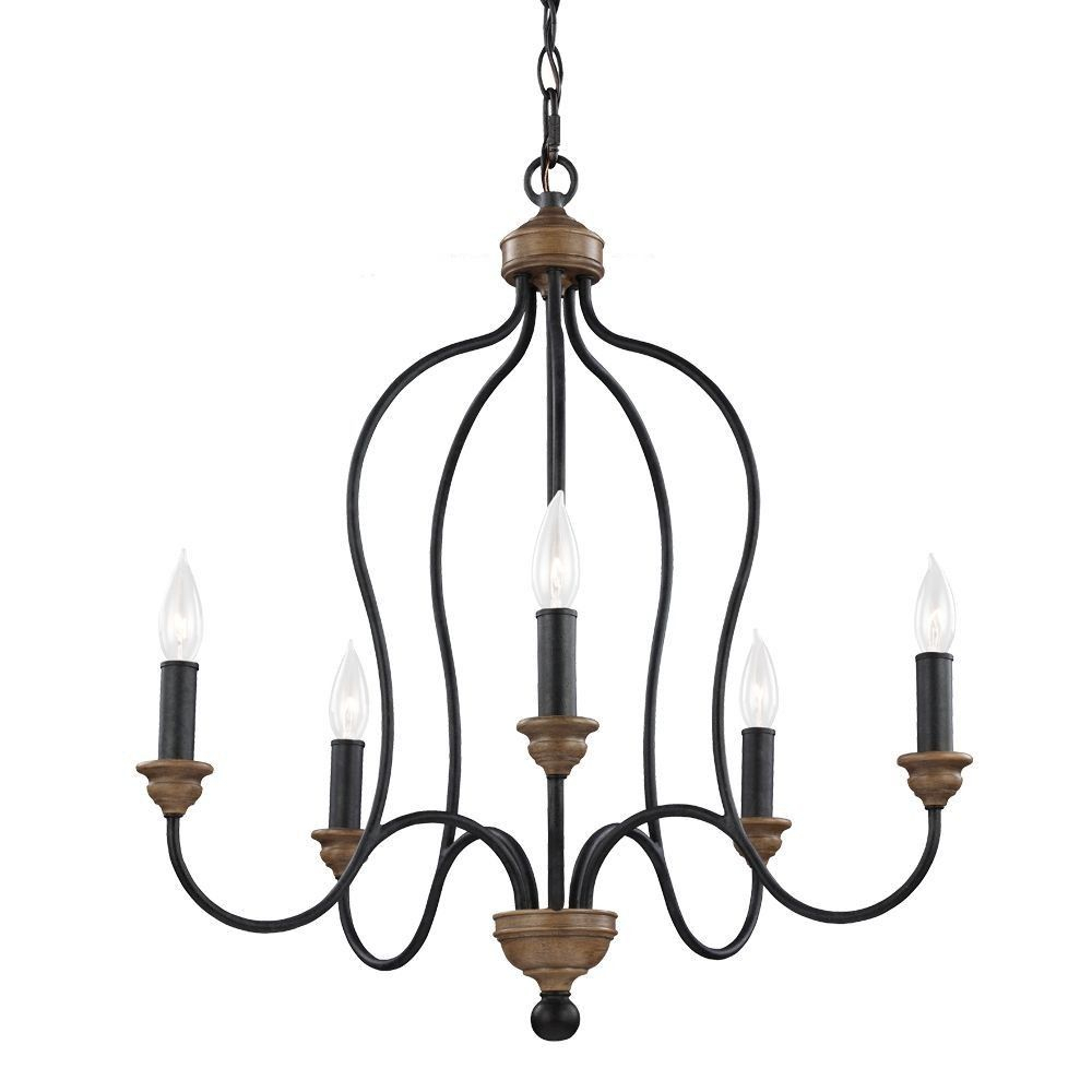 Hartsville - Five Light Chandelier | Decorating | Chandelier within Watford 9-Light Candle Style Chandeliers (Image 17 of 30)