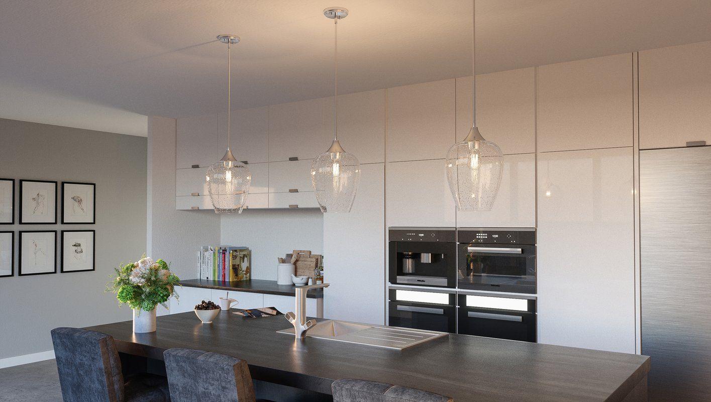 Haskin 1 Light Single Bell Pendant | Cocinas En 2019 | Cocinas Throughout 1 Light Single Bell Pendants (View 15 of 30)