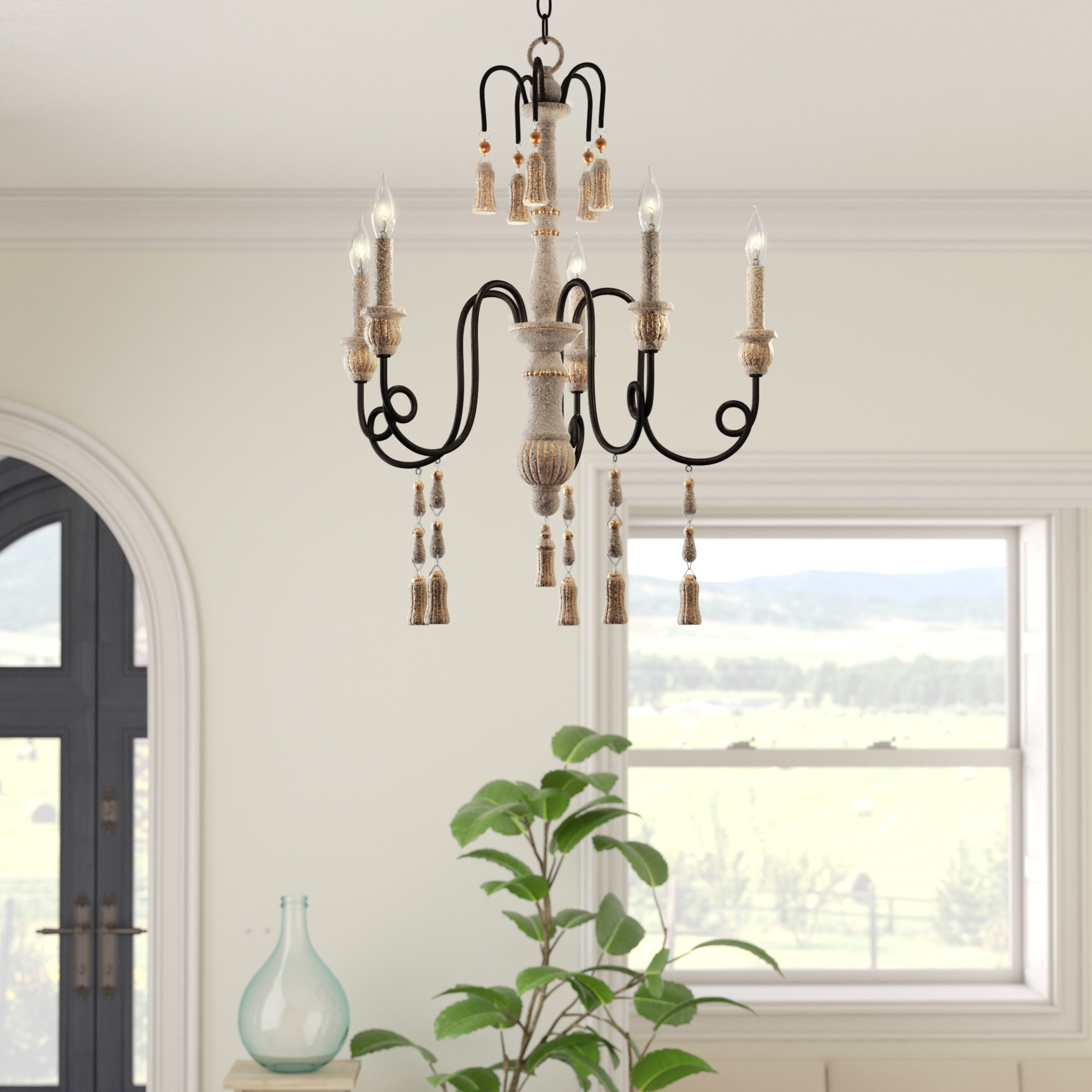 Hassan 5-Light Candle Style Chandelier within Armande Candle Style Chandeliers (Image 21 of 30)