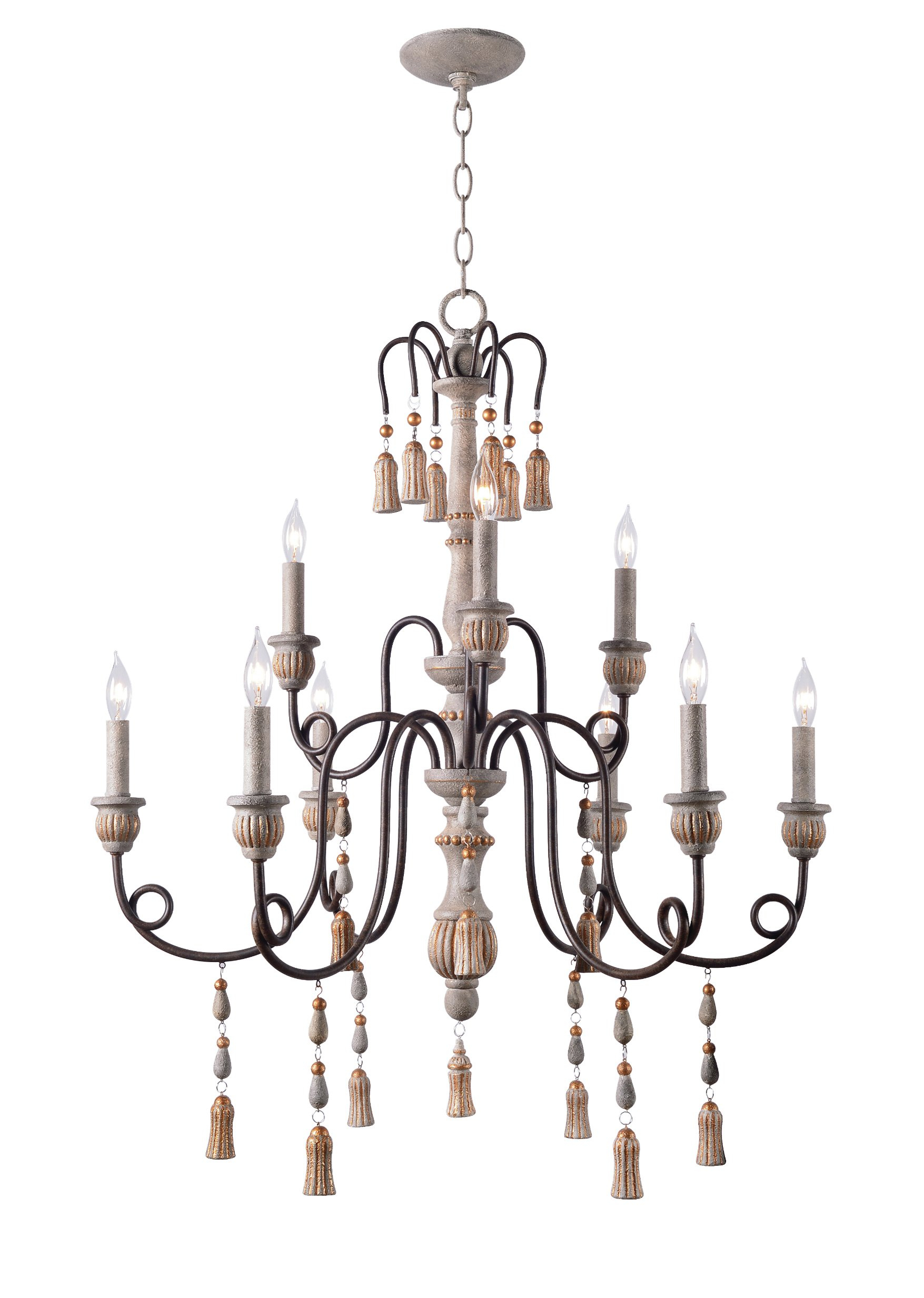 Hassan 9 Light Candle Style Chandelier Inside Bouchette Traditional 6 Light Candle Style Chandeliers (View 17 of 30)