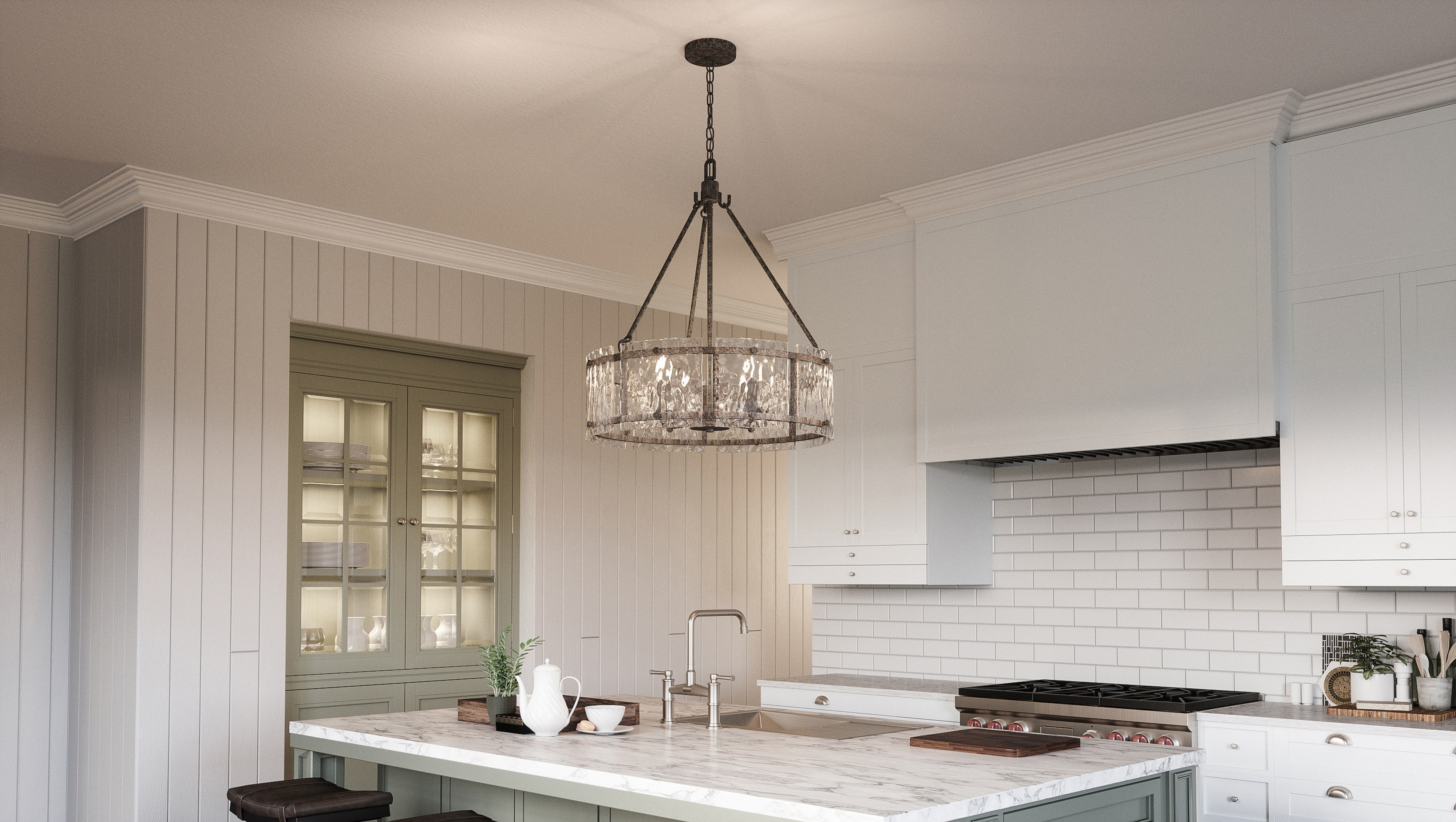 Hasse 5-Light Drum Chandelier with regard to Wightman Drum Chandeliers (Image 15 of 30)