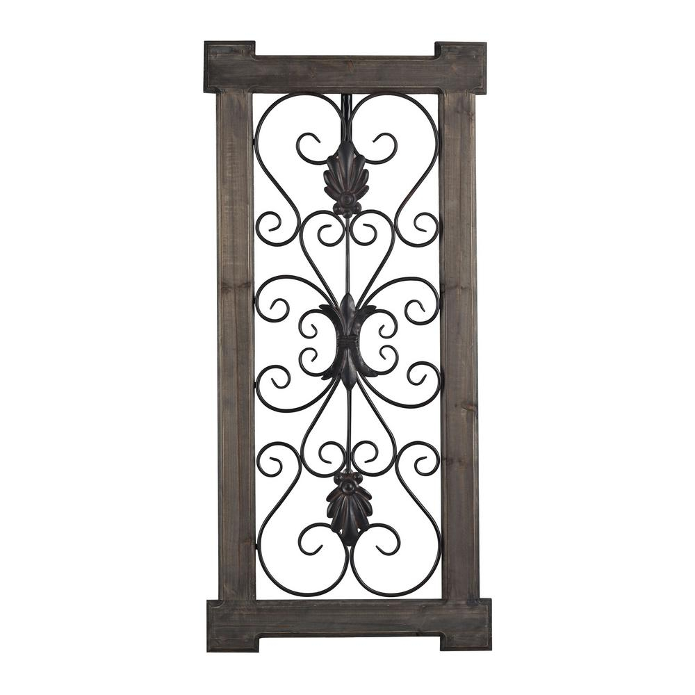Hatfield 42 In. X 20 In. Rectangular Scroll Work Wall Panel intended for Scroll Panel Wall Decor (Image 16 of 30)