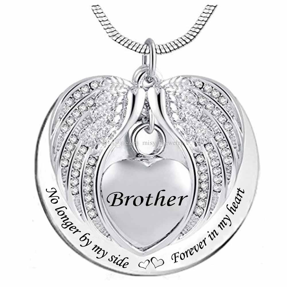 Heart Cremation Urn Necklace For Ashes Urn Jewelry Memorial Pendant -  Always On My Mind Forever In My Heart regarding 3-Light Single Urn Pendants (Image 15 of 30)