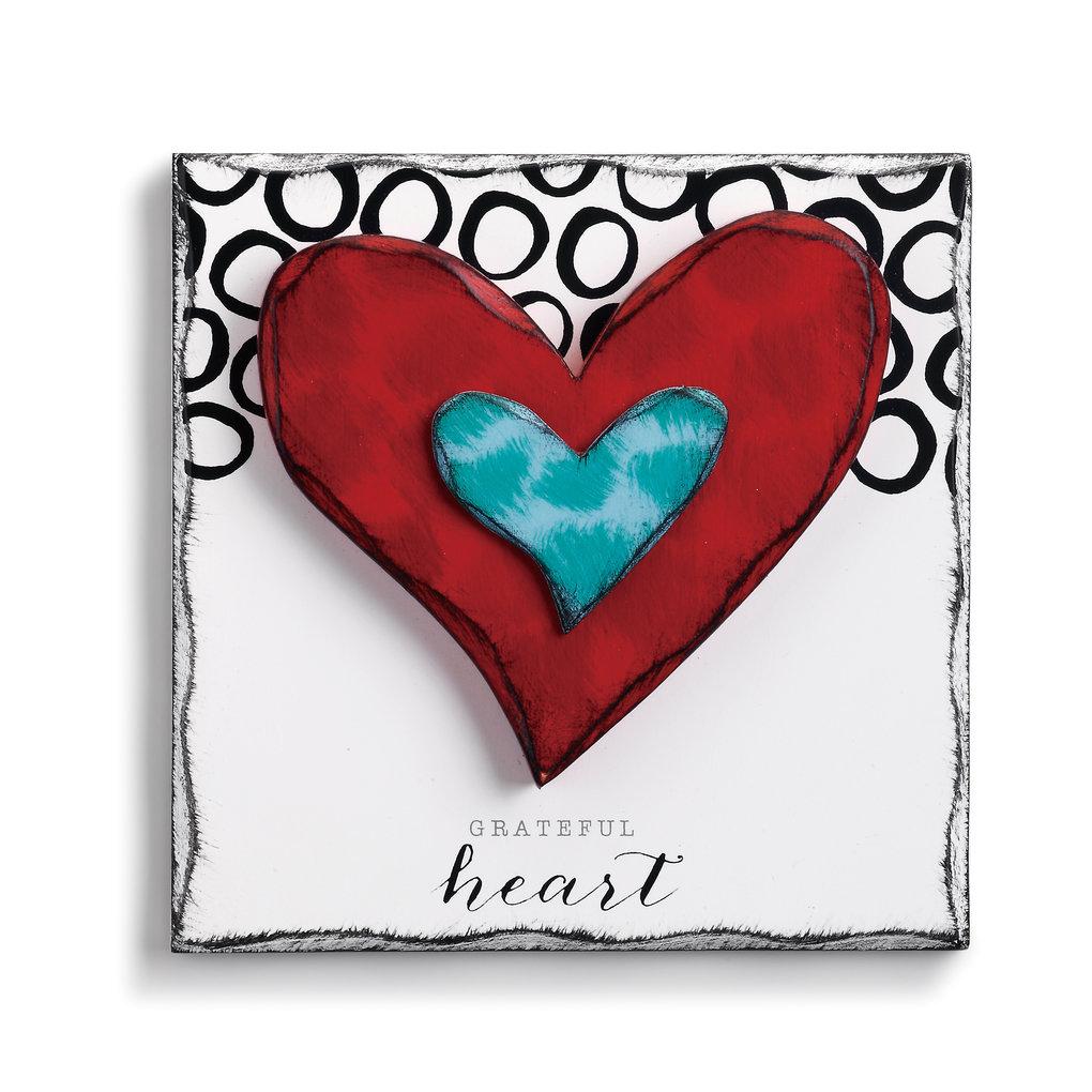 Heart Wall Decor | Wayfair Inside Fawcett Thankful Heart Wall Decor (View 23 of 30)