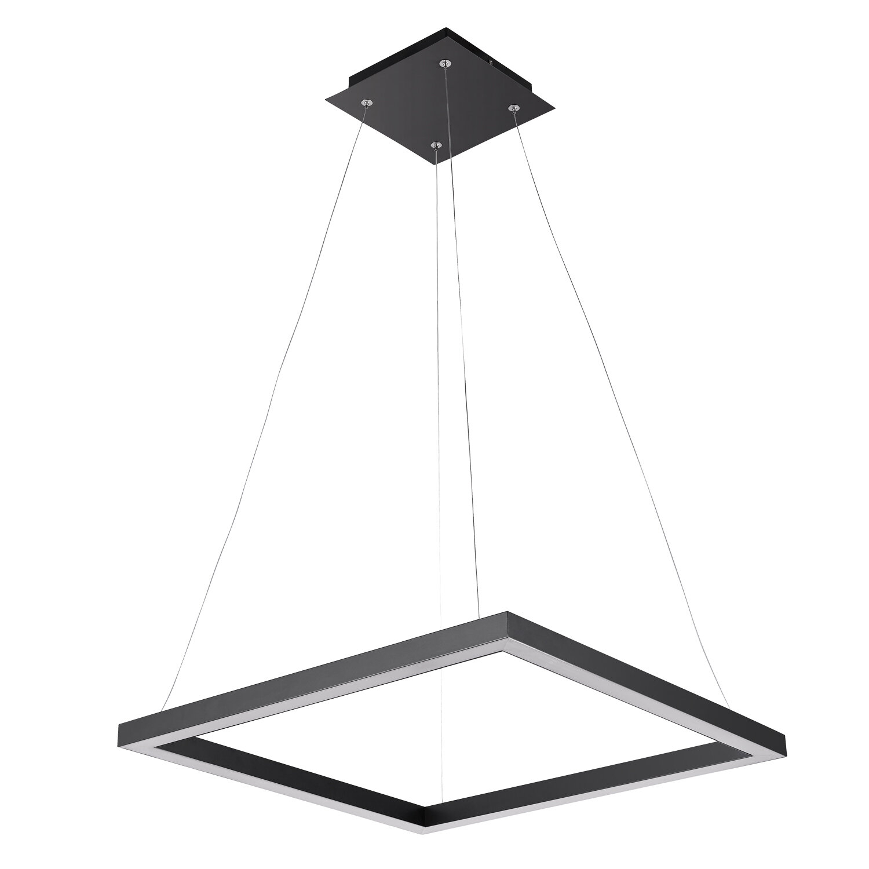 Heflin 1 Light Led Single Square Pendant In Callington 1 Light Led Single Geometric Pendants (View 21 of 30)