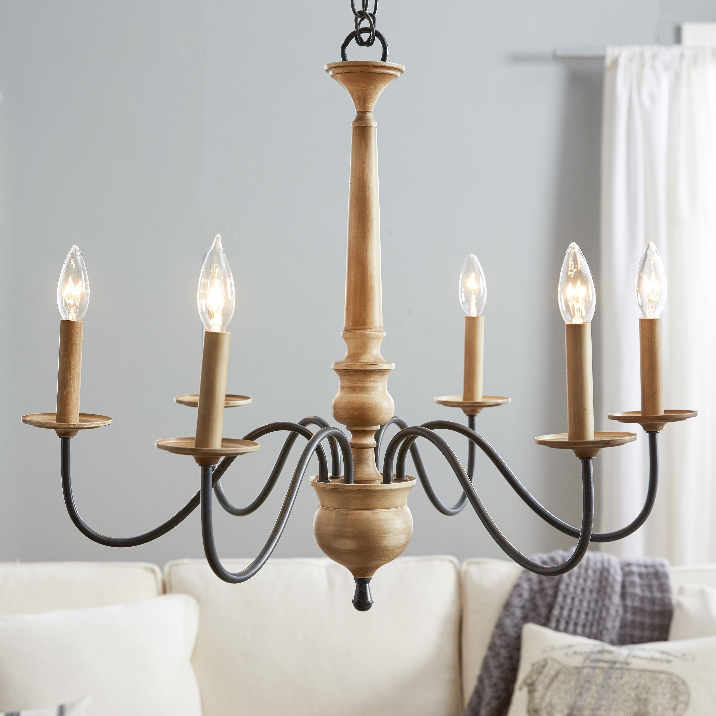 Helen 6 Light Chandelier | Broad Street Master | Farmhouse With Florentina 5 Light Candle Style Chandeliers (View 15 of 30)