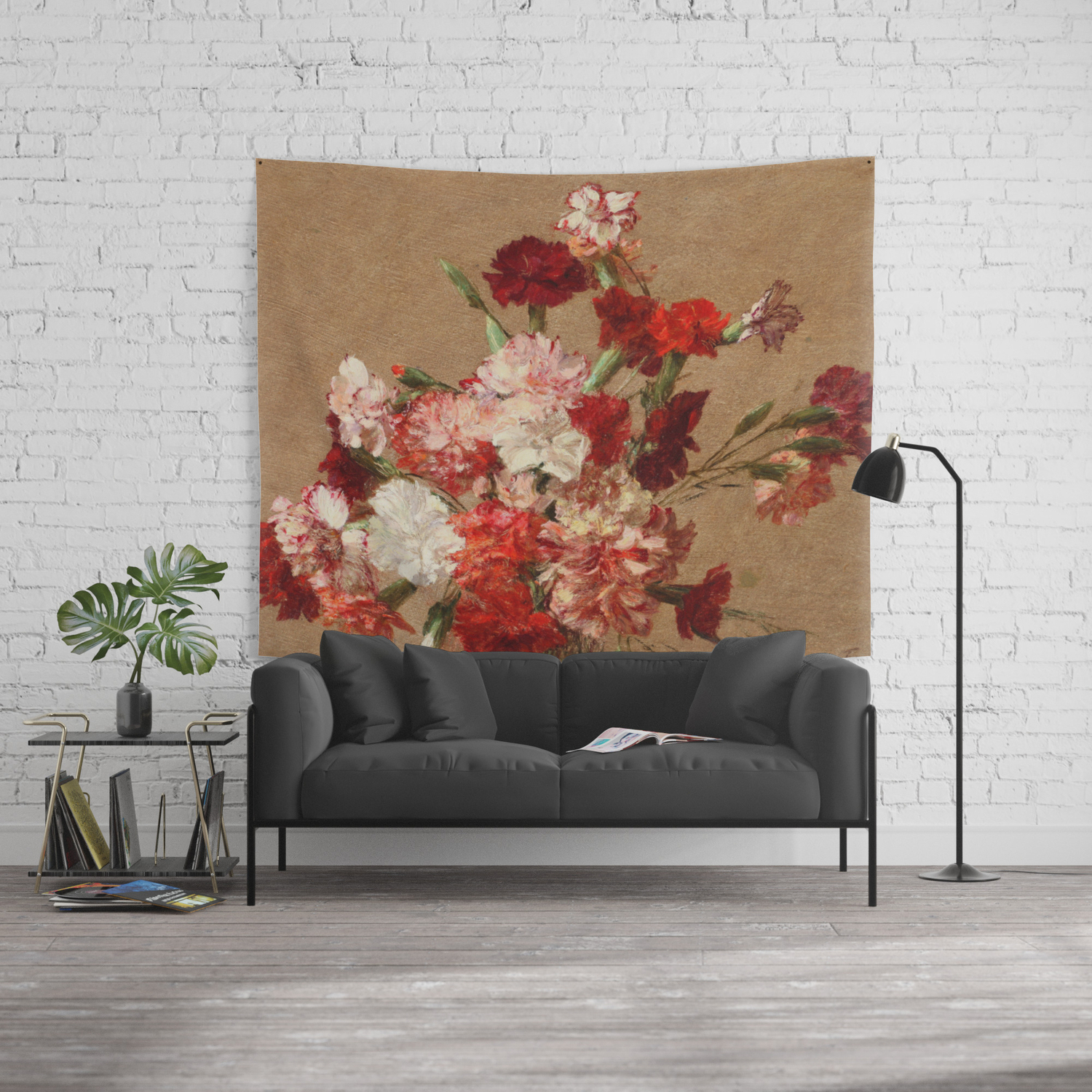 Henri Fantin Latour – Carnations Without Vase Wall Tapestry Regarding Latour Wall Decor (View 20 of 30)