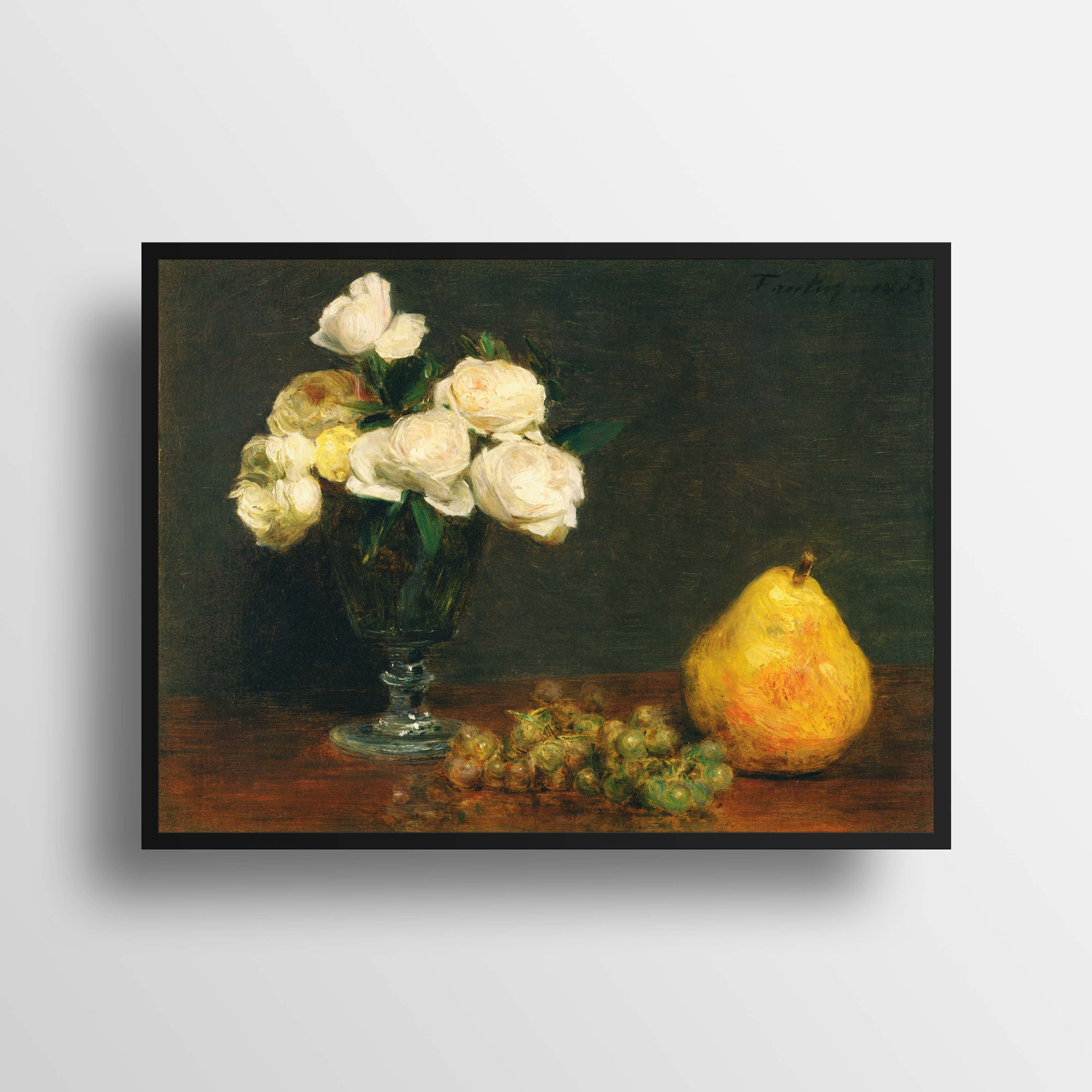 Henri Fantin Latour * Still Life With Roses And Fruit * Fine Art Print * Painting Art Print * Wall Art * Wall Decor * Fine Art Reproduction Within Latour Wall Decor (View 6 of 30)