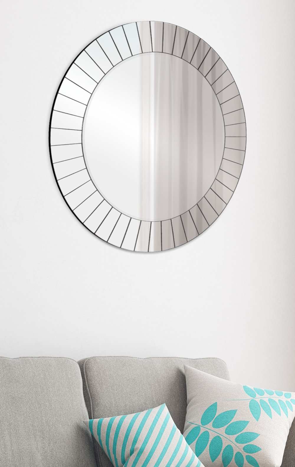 Henriette Frameless Accent Mirror within Lidya Frameless Beveled Wall Mirrors (Image 16 of 30)