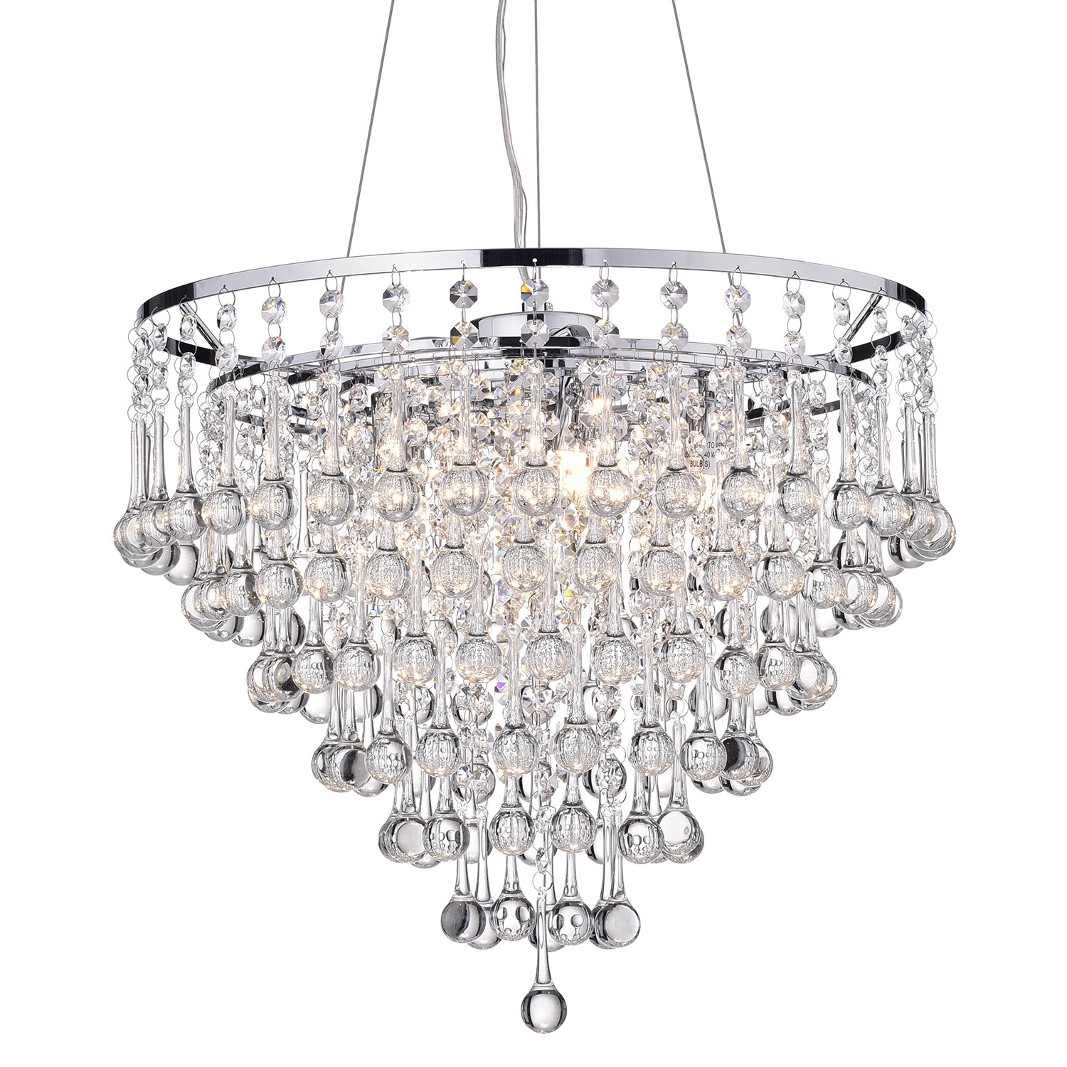 Hera 5-Light Crystal Chandelier pertaining to Aldgate 4-Light Crystal Chandeliers (Image 15 of 30)
