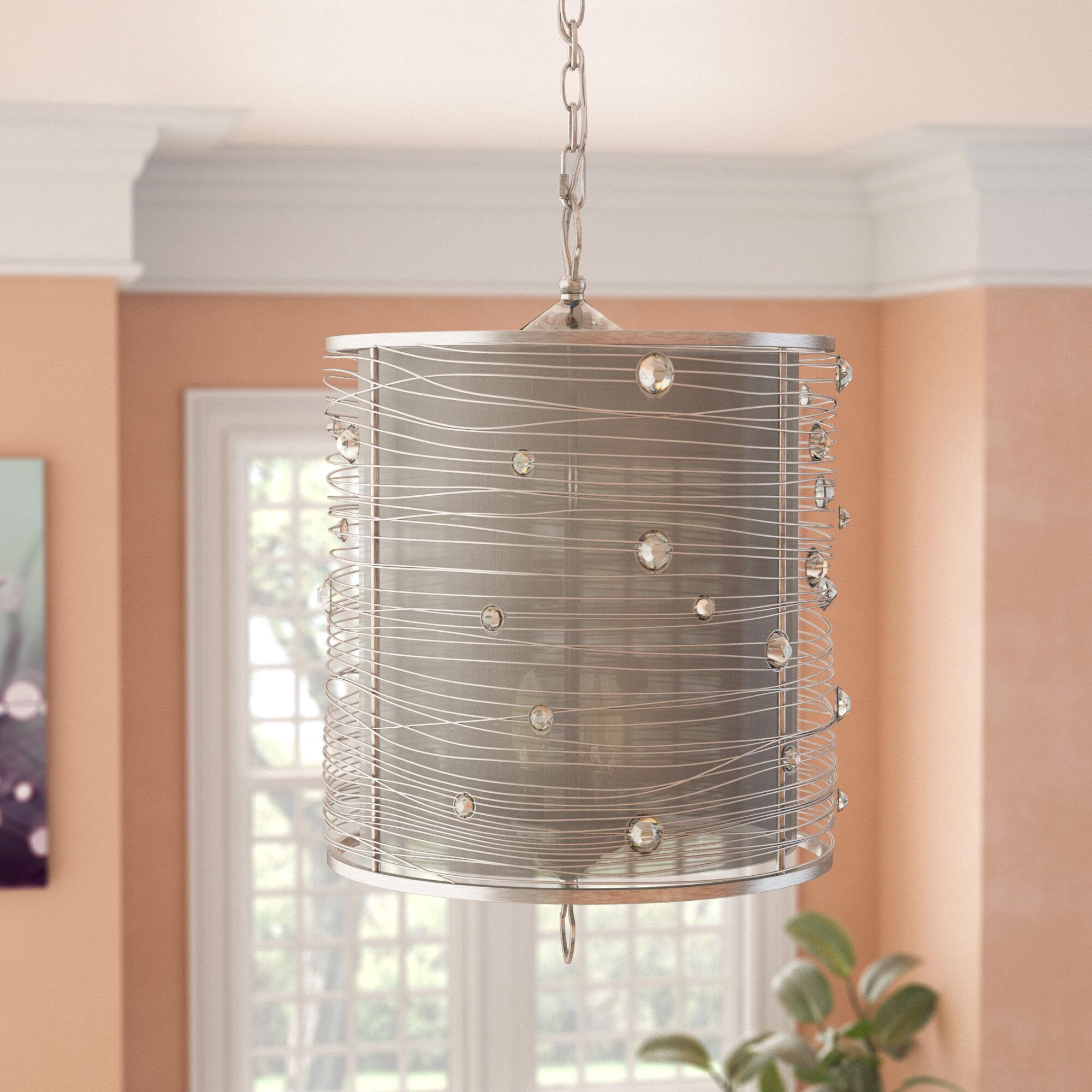 Featured Photo of Hermione 1 Light Single Drum Pendants