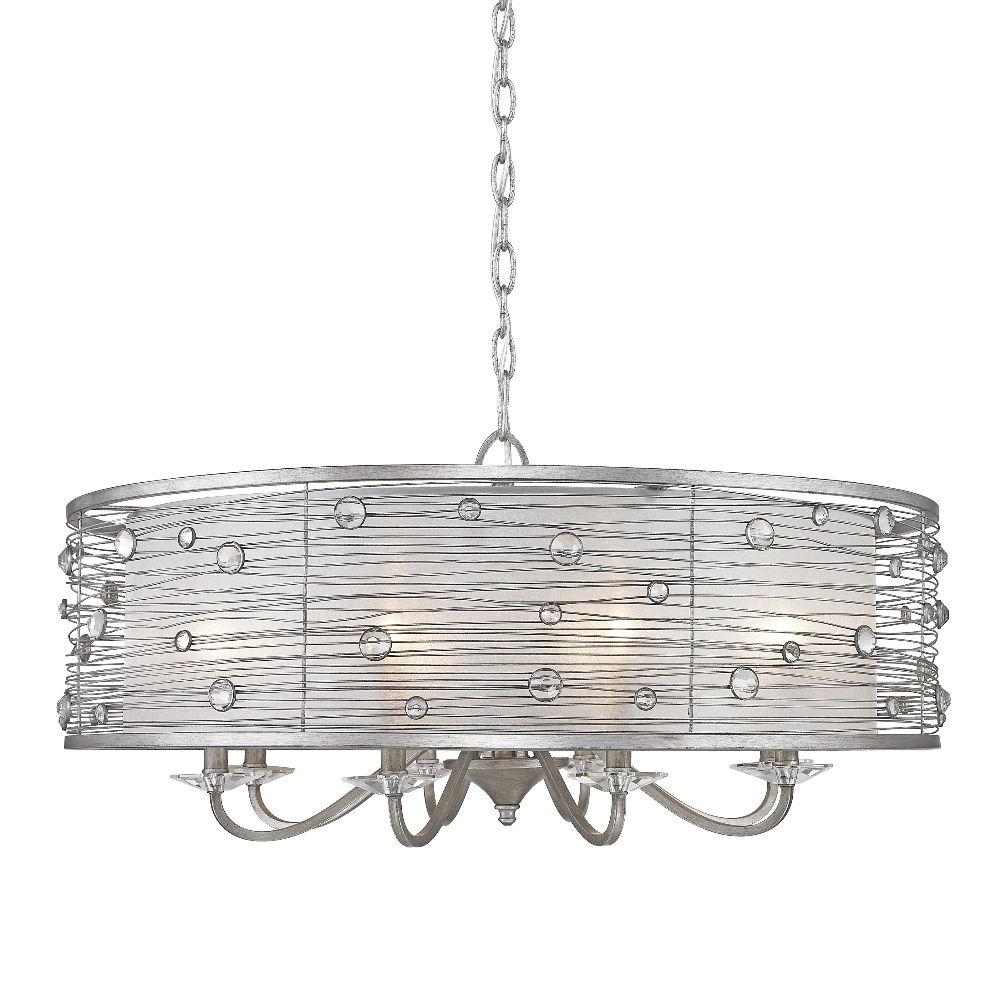 Hermione 8 Light Drum Chandelier Intended For Abel 5 Light Drum Chandeliers (Image 17 of 30)