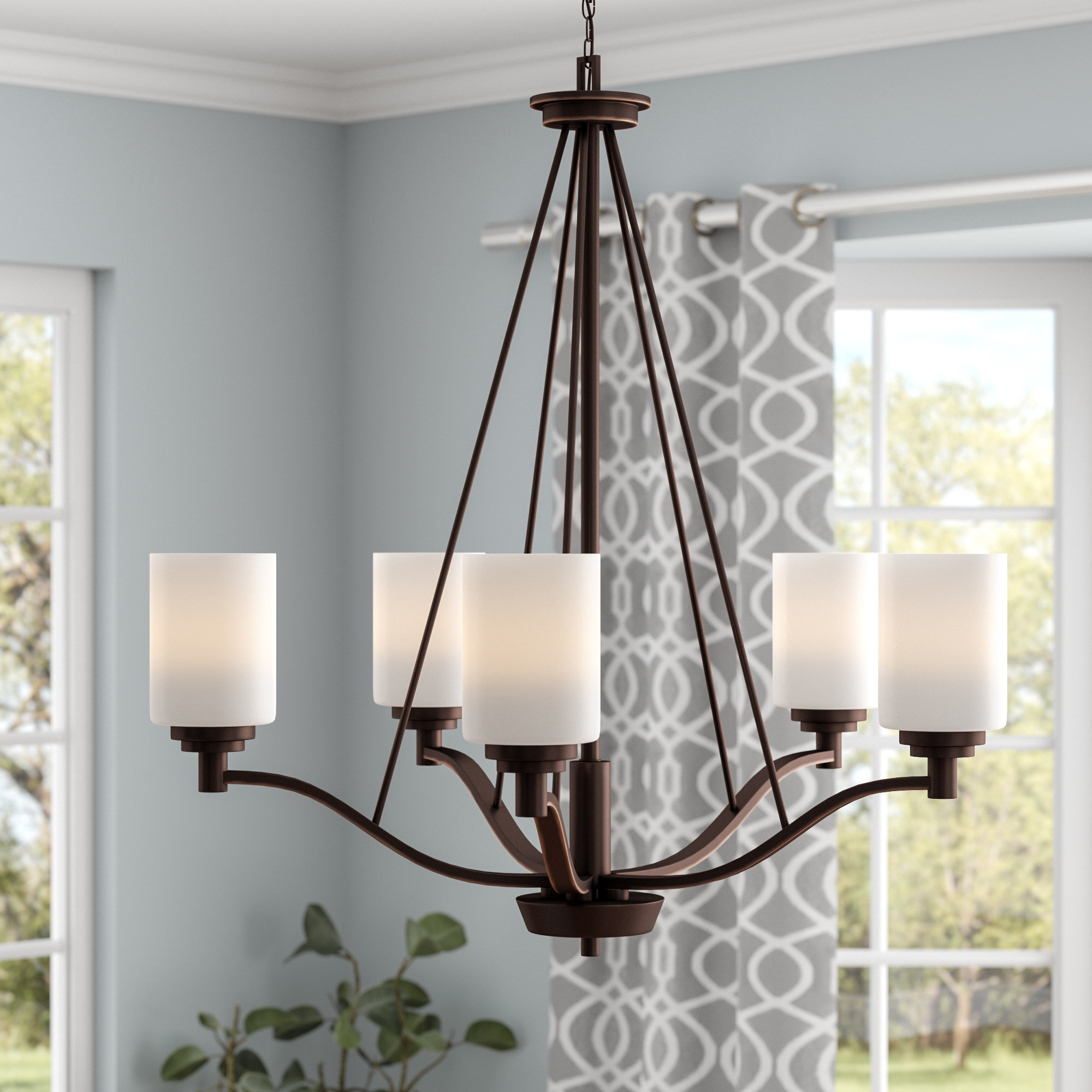 Hester 5-Light Shaded Chandelier throughout Suki 5-Light Shaded Chandeliers (Image 11 of 30)