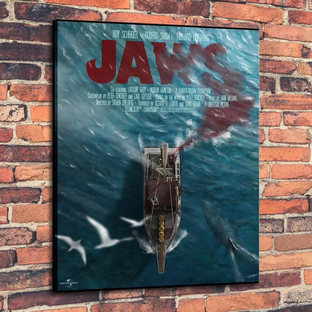 High Quality Hd Canvas Print Wall Art Oil Painting Jaws Variant Home Decor On Canvas Multi Sizes Pa06 Pertaining To Metal Universal Wall Decor (View 26 of 30)