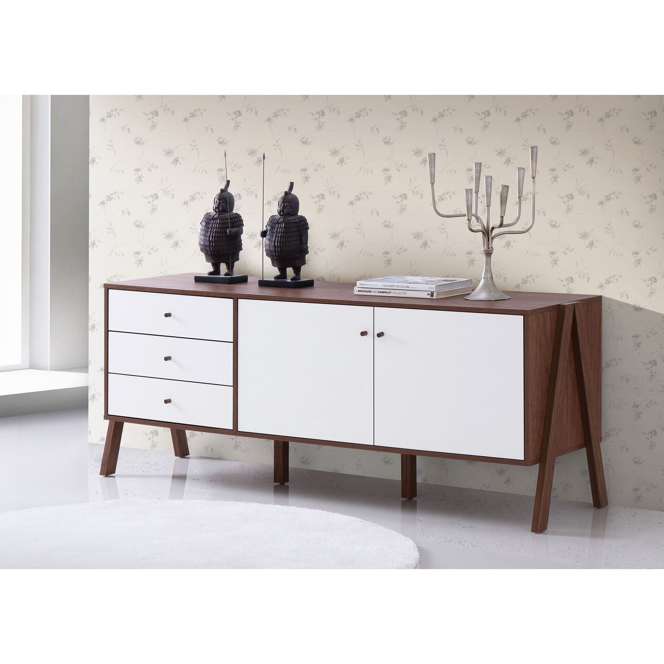 Highlight The Handsomely Modern Feel Of Your Space With The with Rosson Sideboards (Image 12 of 30)