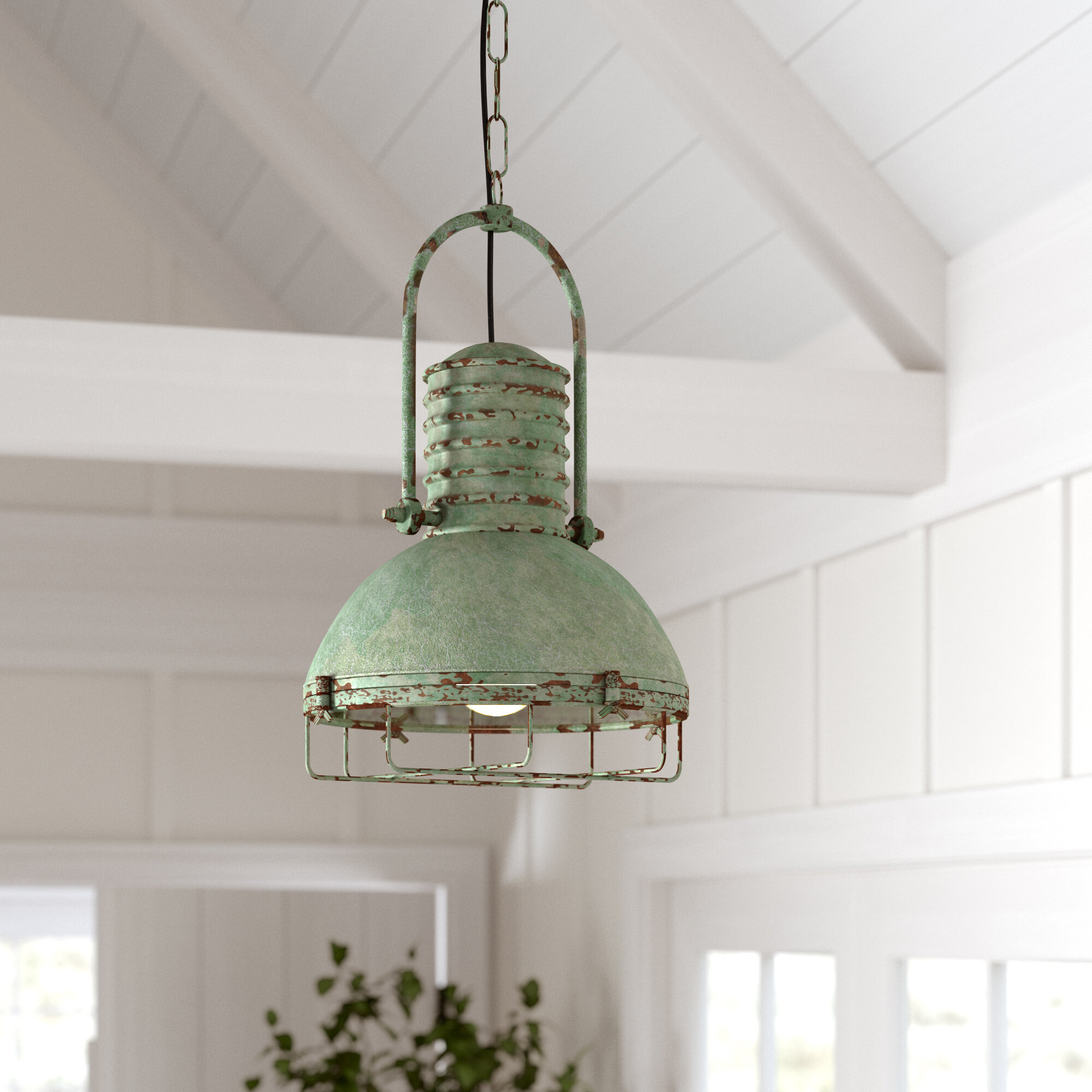 Hillary 1-Light Single Dome Pendant with Monadnock 1-Light Single Dome Pendants (Image 15 of 30)
