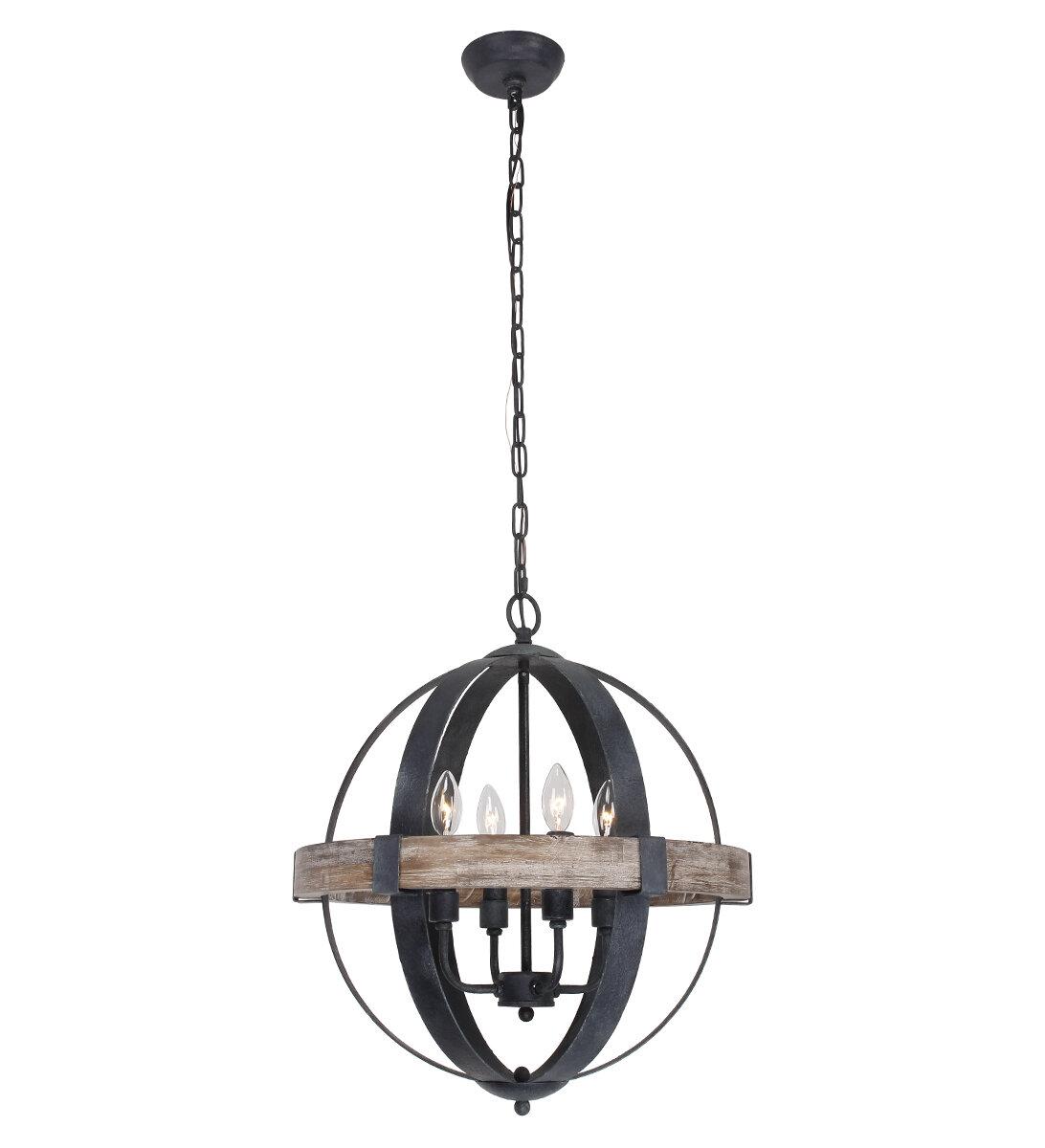 Hillsboro 4 Light Globe Chandelier Throughout La Sarre 3 Light Globe Chandeliers (View 18 of 30)