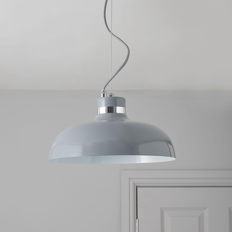 Holman Grey Pendant Ceiling Light | – Lamput – Lights Intended For Gattis 1 Light Dome Pendants (View 24 of 30)