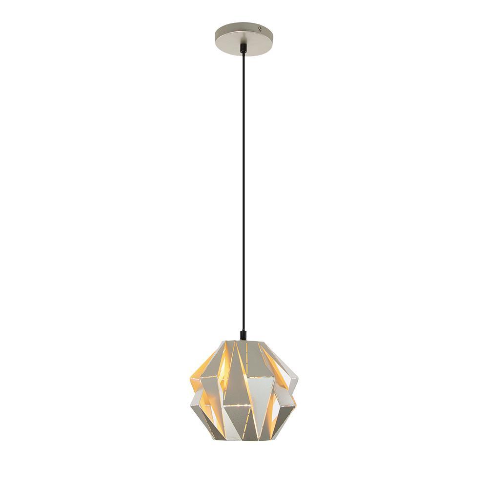 Home Decorators Collection 1 Light Metal Silver Mini Pendant For Prange 1 Light Single Globe Pendants (View 21 of 30)