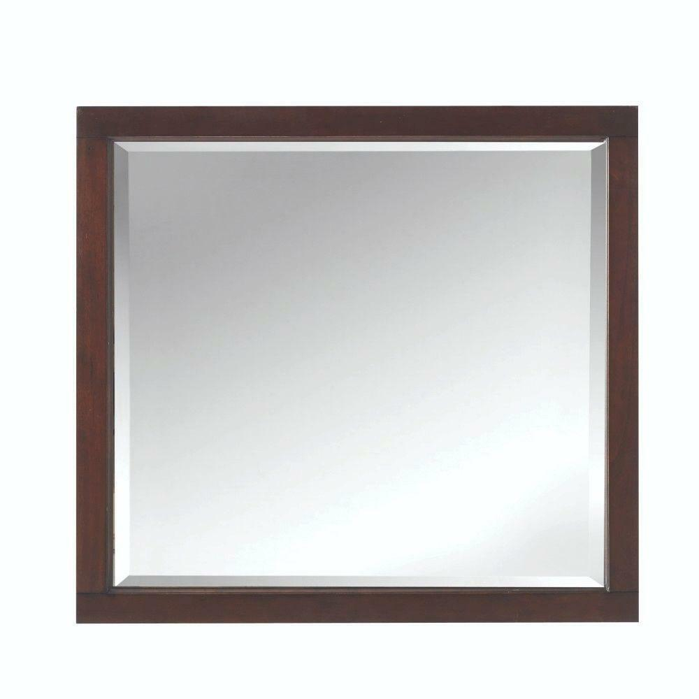 "Home Decorators Highclere 36"" X 33"" Wood Framed Wall Mirror Pertaining To Traditional Square Glass Wall Mirrors (View 16 of 30)"